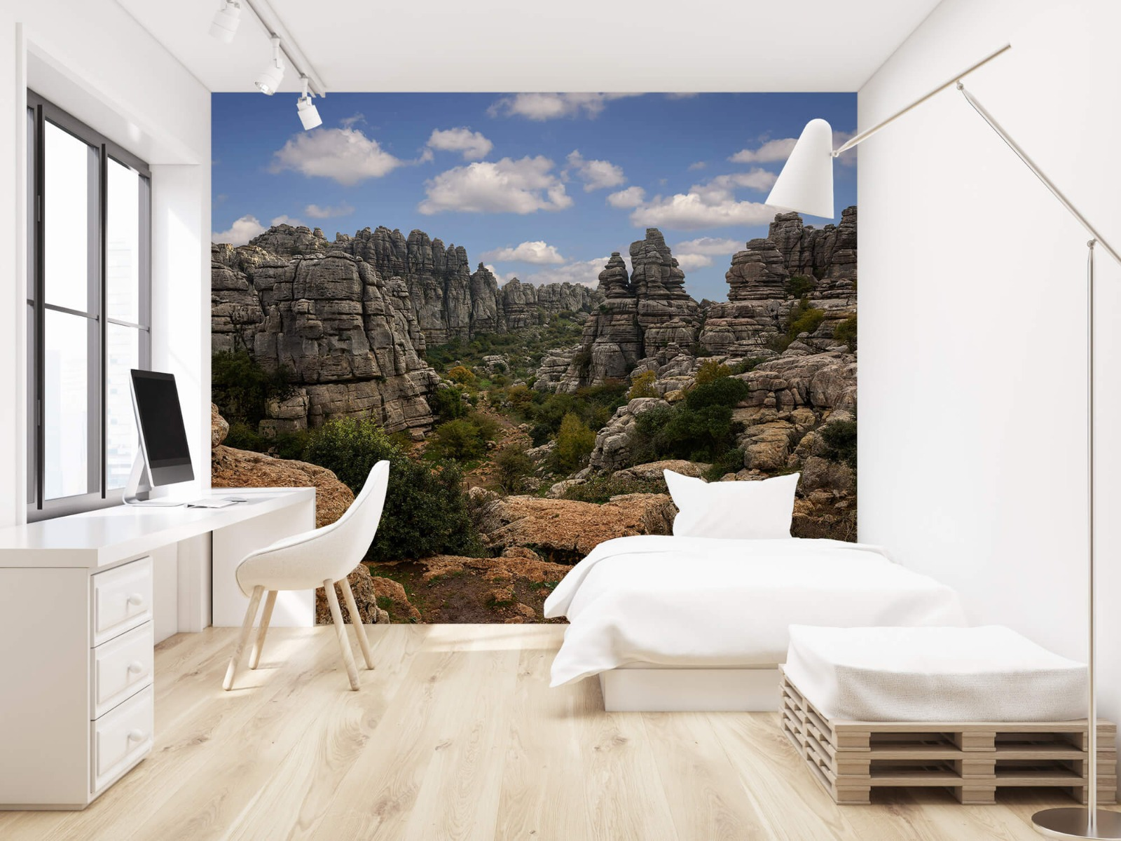 Bergen - Rotsen met blauwe lucht - Slaapkamer 22