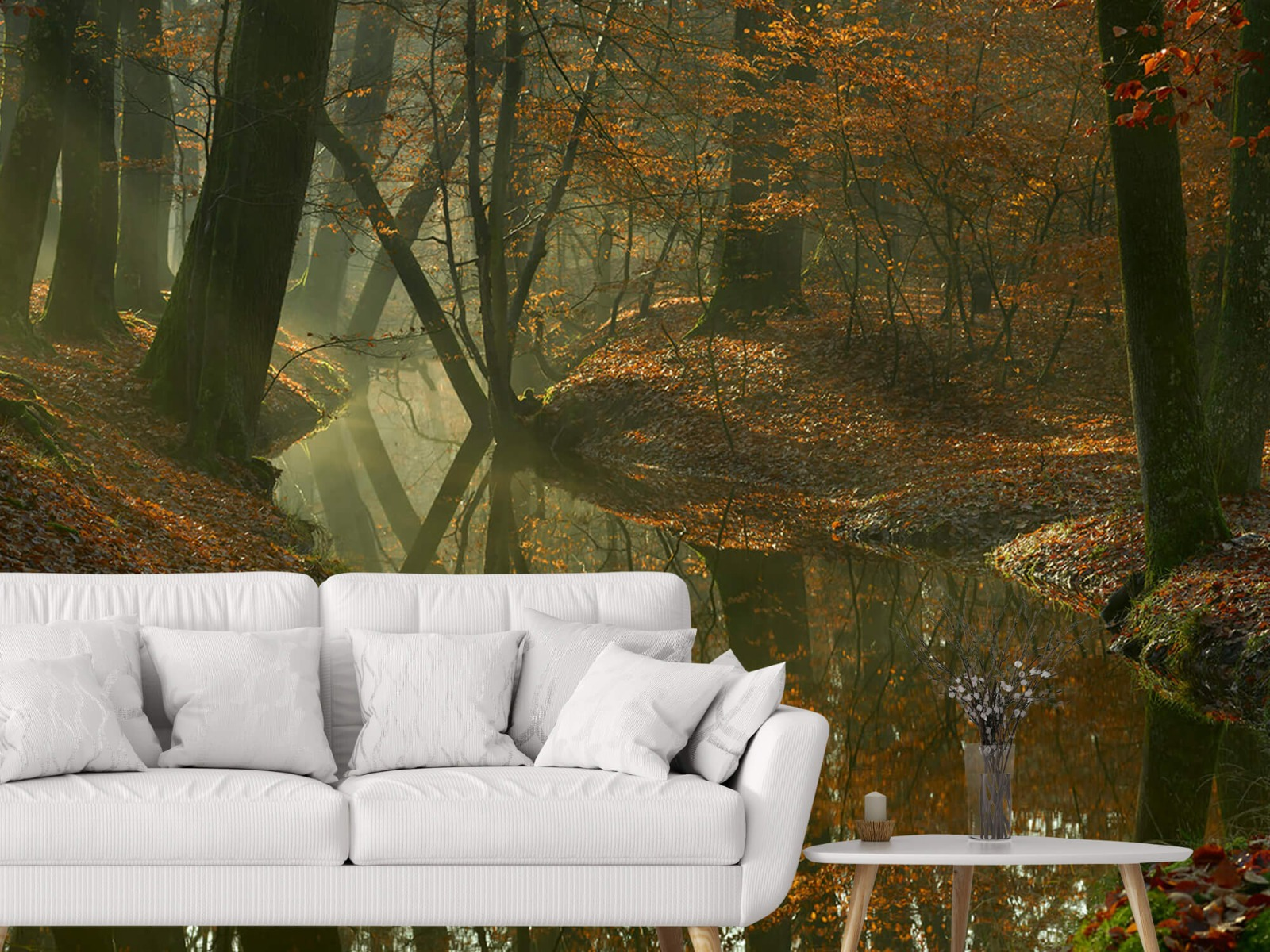 Herfst - Beek door het bos - Slaapkamer 3