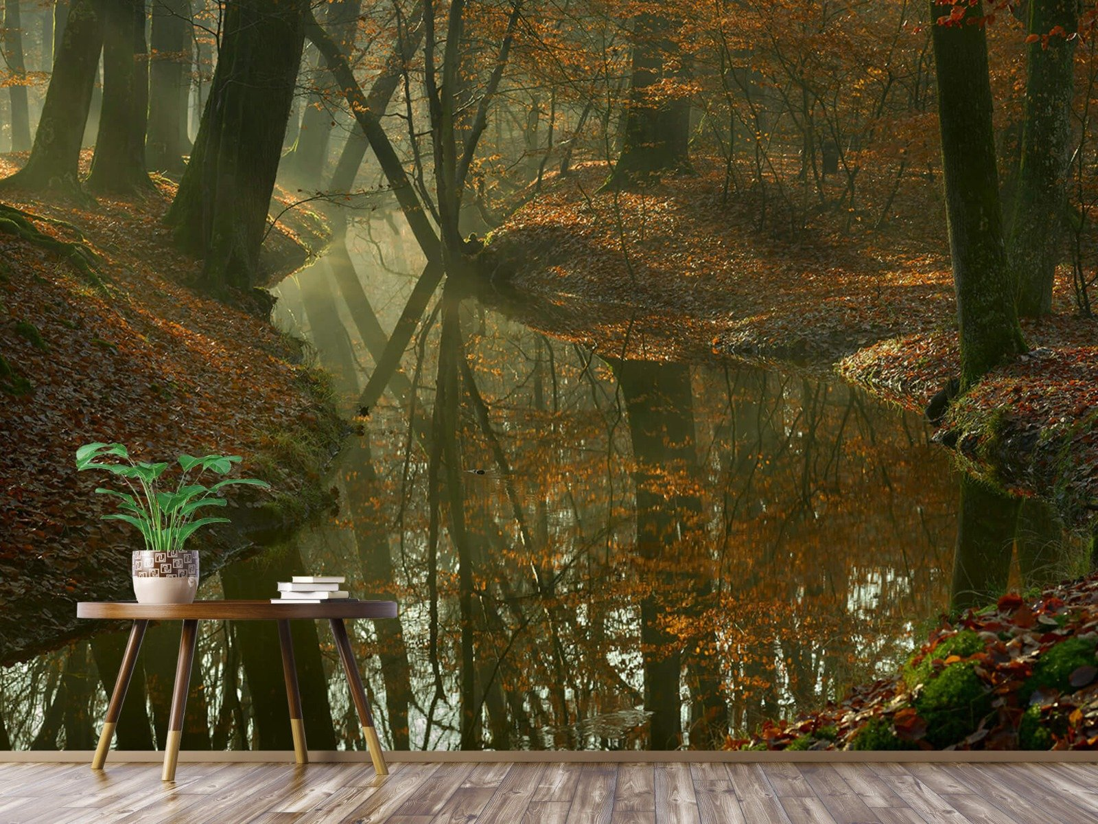 Herfst - Beek door het bos - Slaapkamer 4