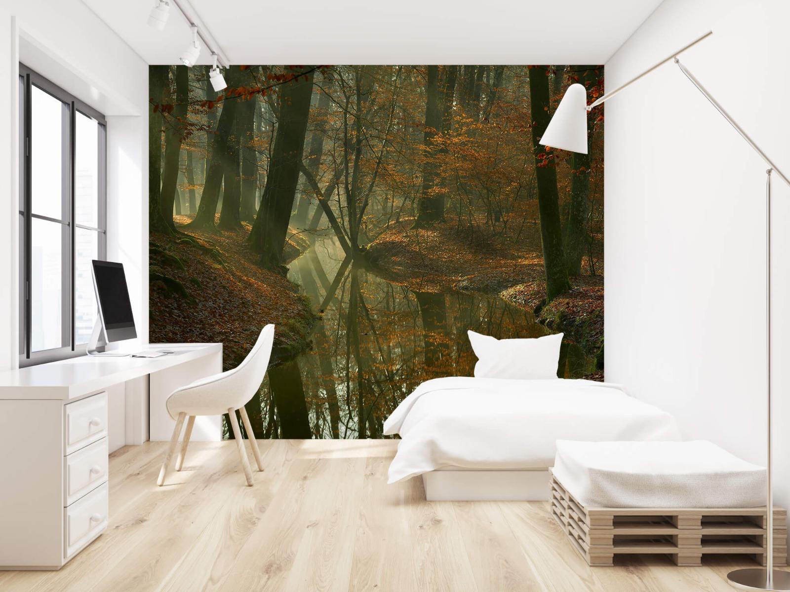 Herfst - Beek door het bos - Slaapkamer 22
