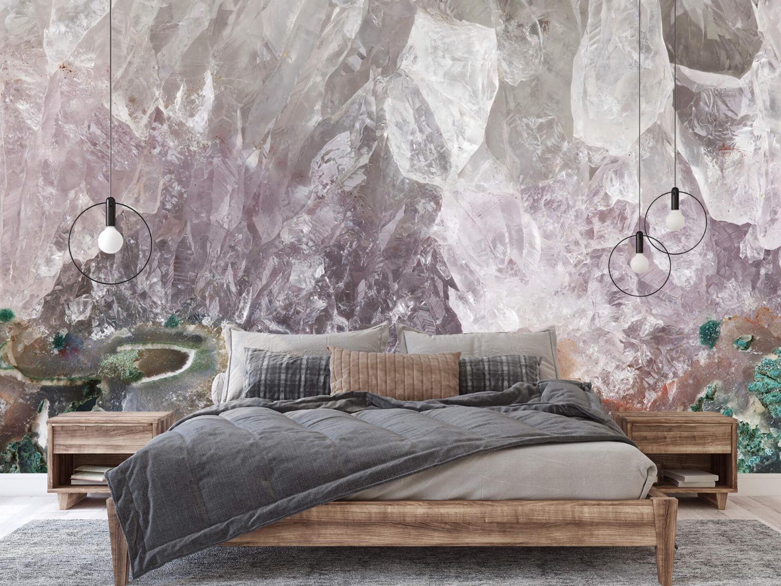Steen behang - Close-up edelsteen - Slaapkamer 1