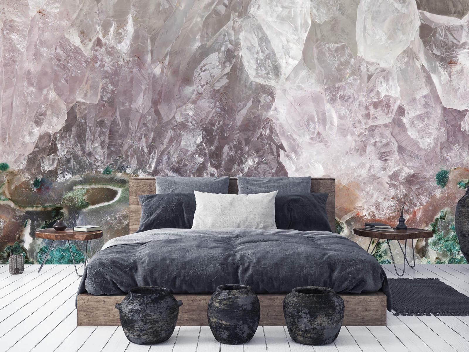 Steen behang - Close-up edelsteen - Slaapkamer 5