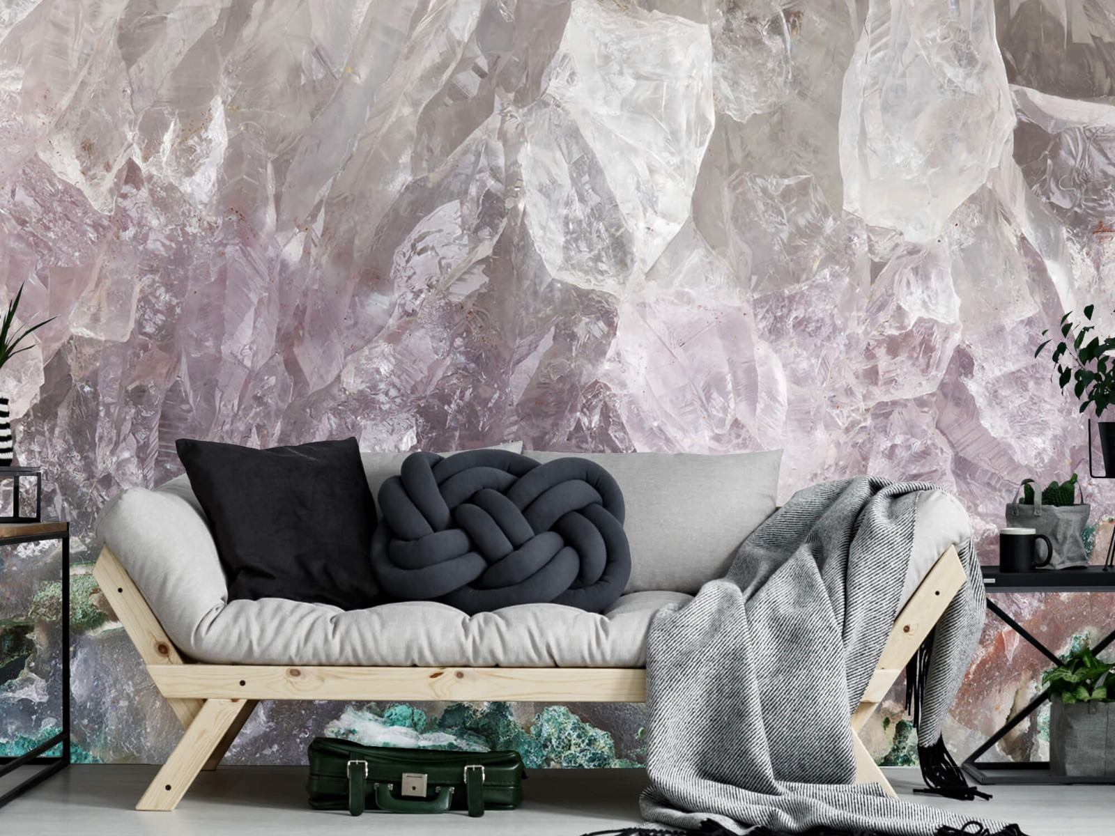 Steen behang - Close-up edelsteen - Slaapkamer 6