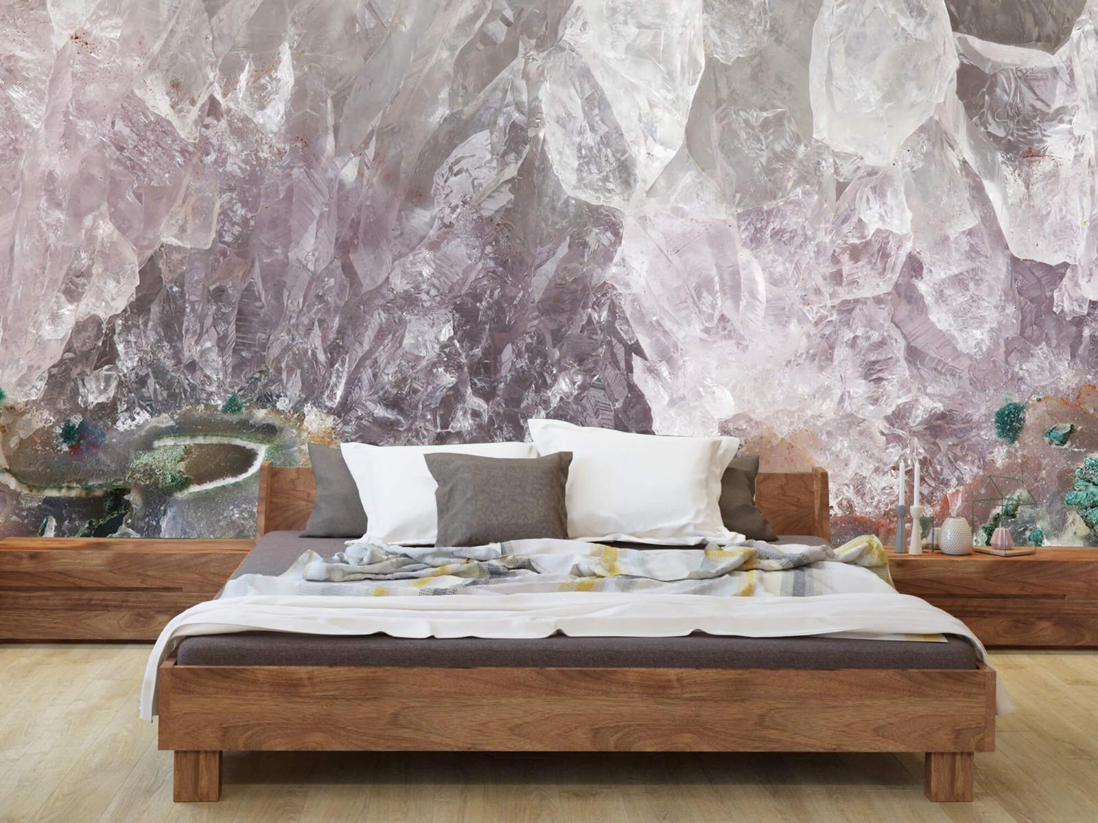 Steen behang - Close-up edelsteen - Slaapkamer 7