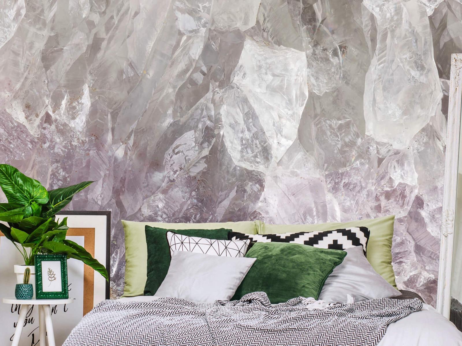 Steen behang - Close-up edelsteen - Slaapkamer 12