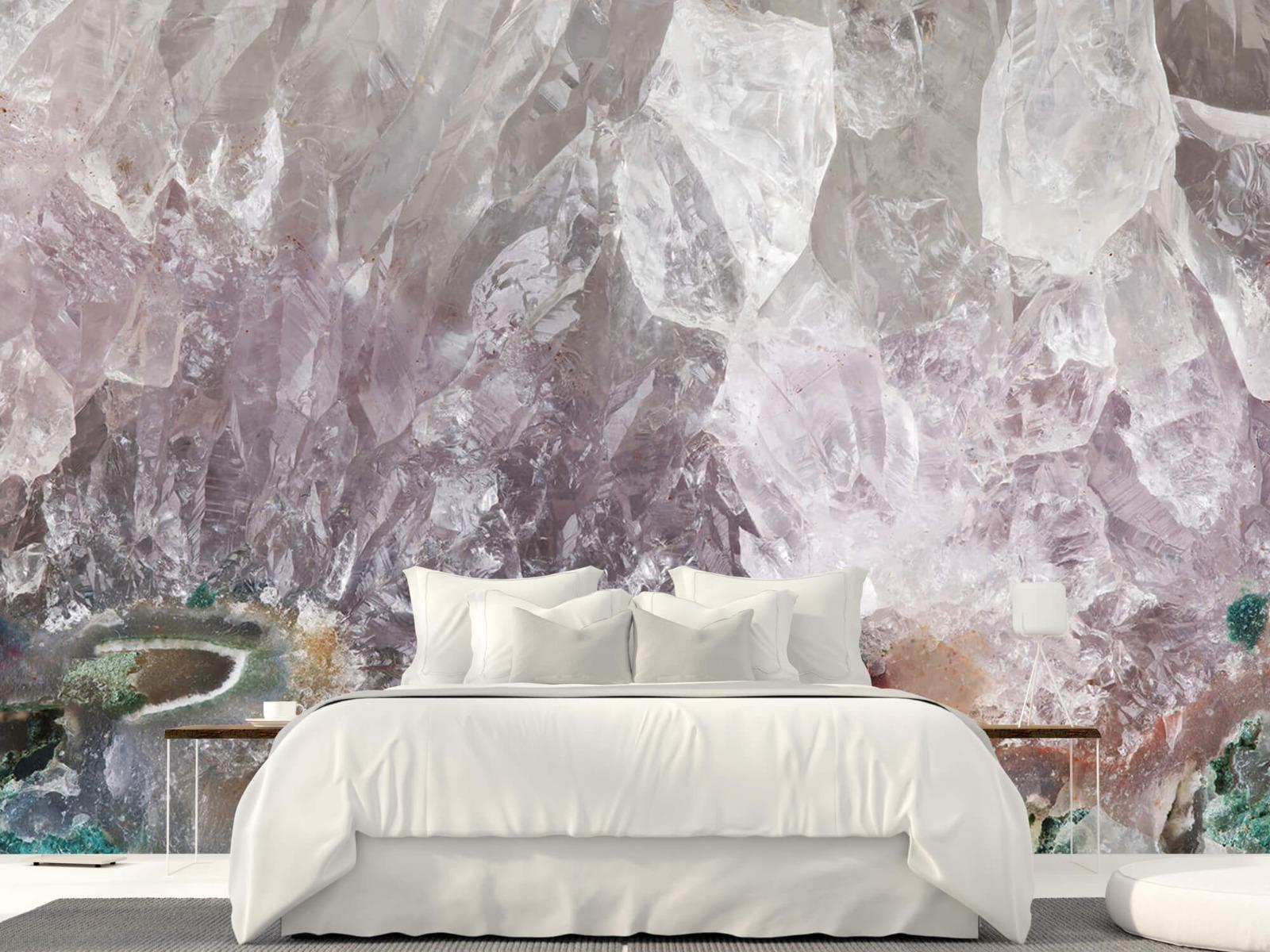 Steen behang - Close-up edelsteen - Slaapkamer 23