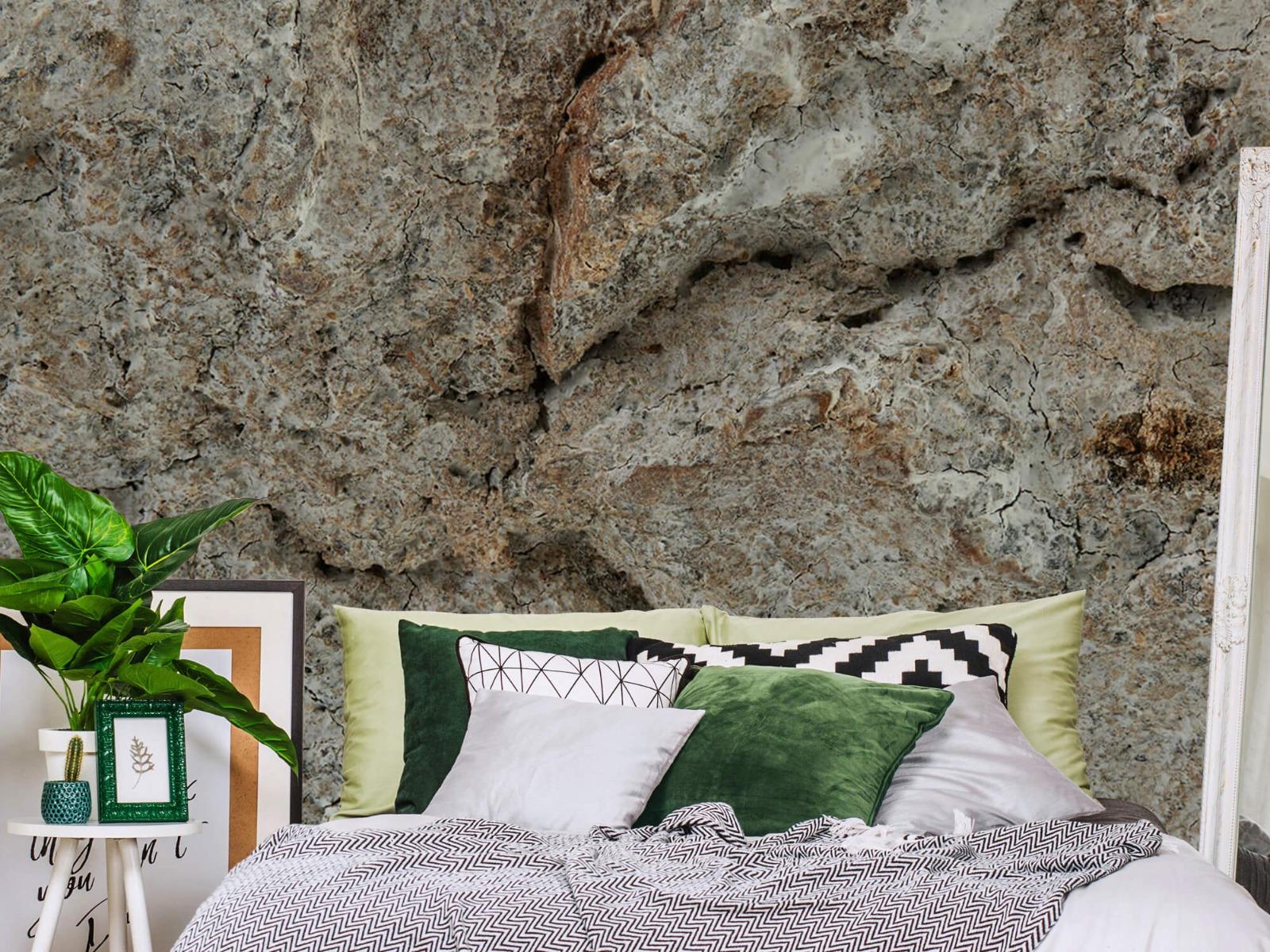 Hout behang - Witte boomschors - Woonkamer 12
