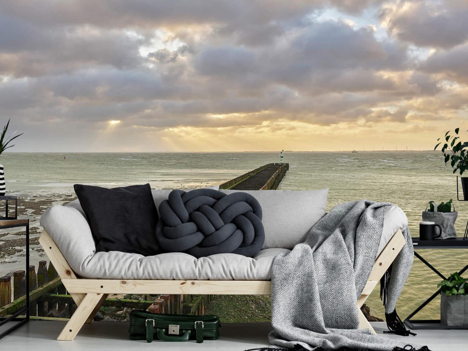 Zeeën en Oceanen - Golfbreker aan de kust - Slaapkamer 7