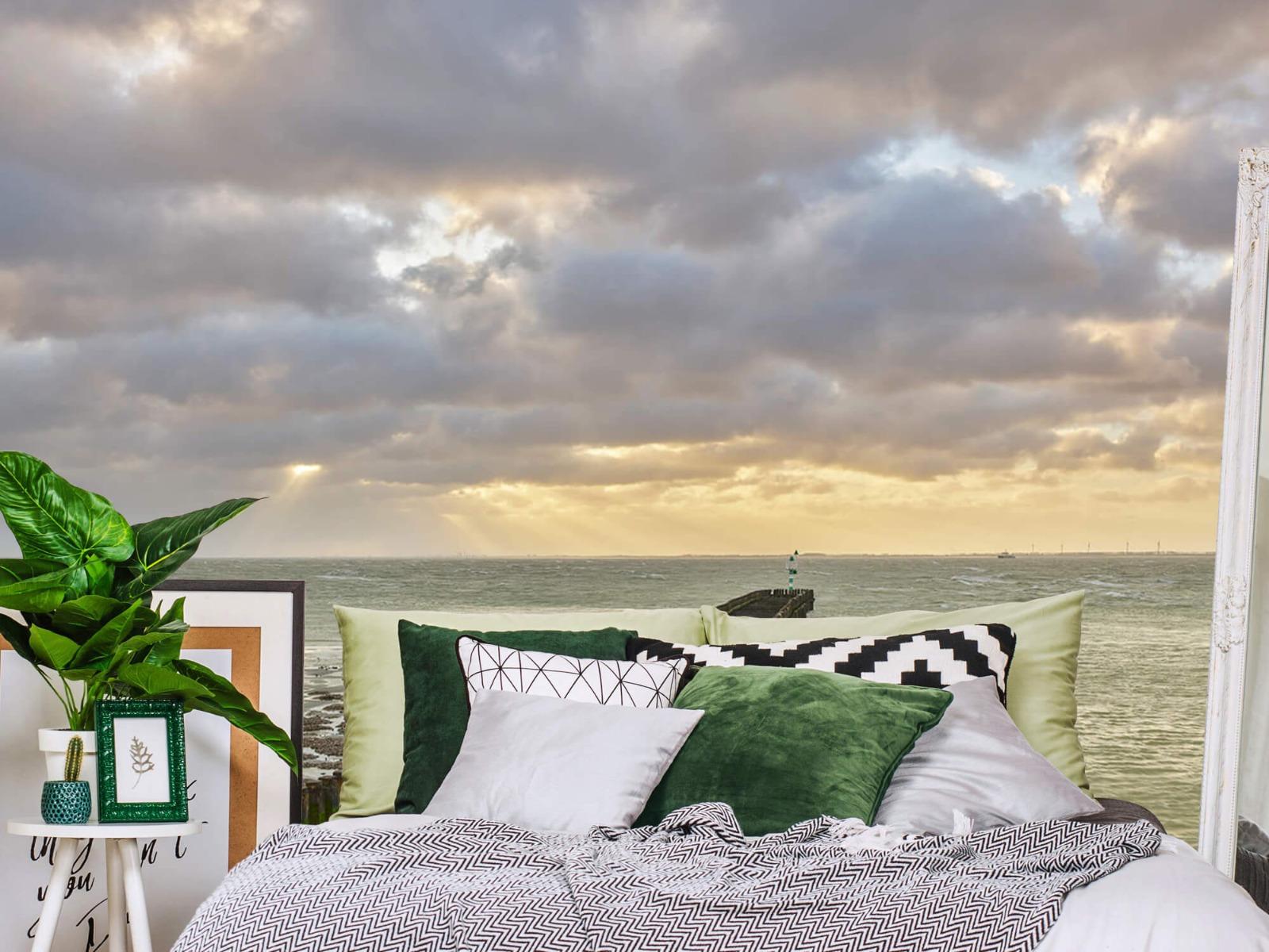 Zeeën en Oceanen - Golfbreker aan de kust - Slaapkamer 12