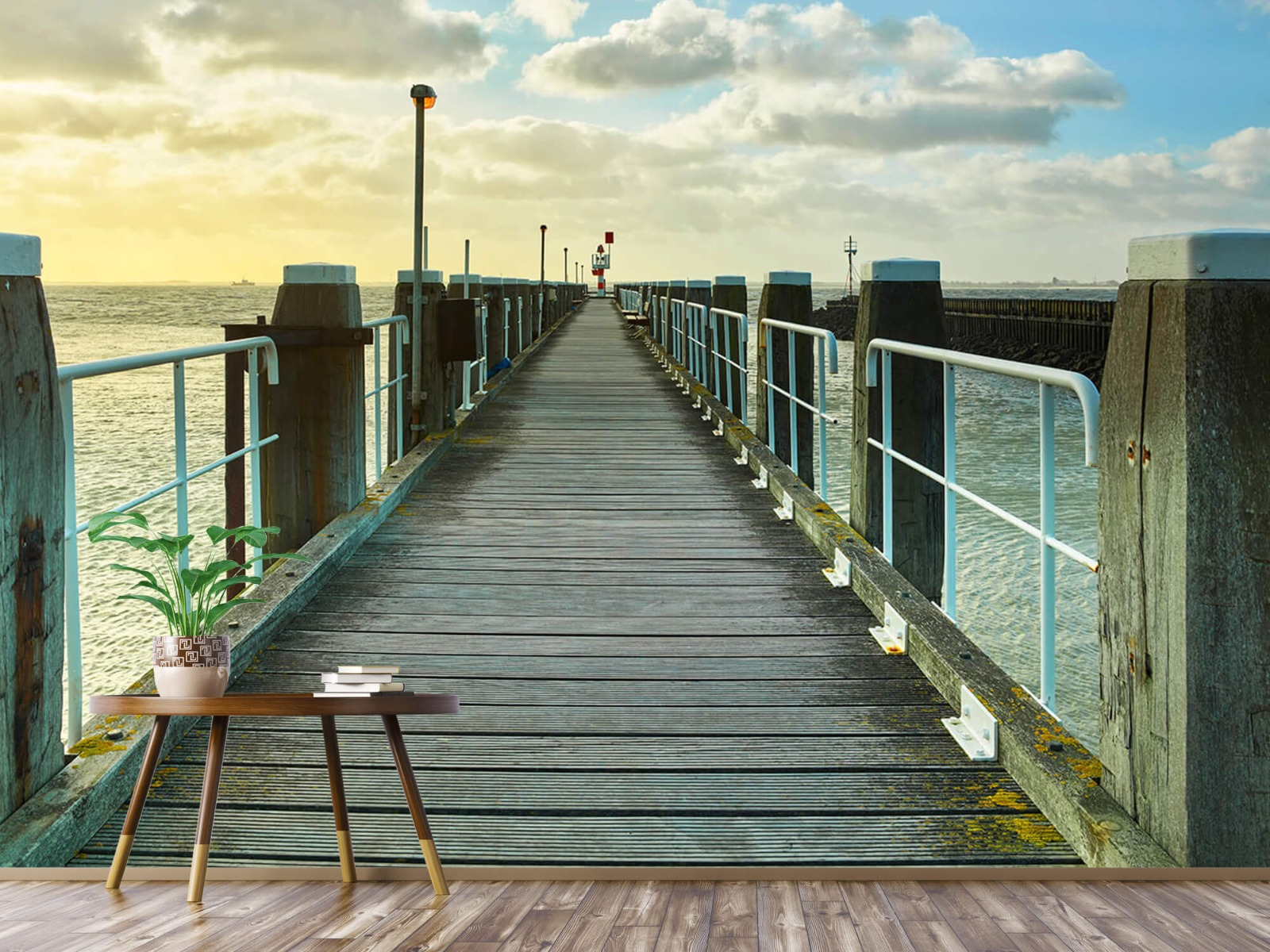 Zeeën en Oceanen - Steiger aan de kust - Woonkamer 3