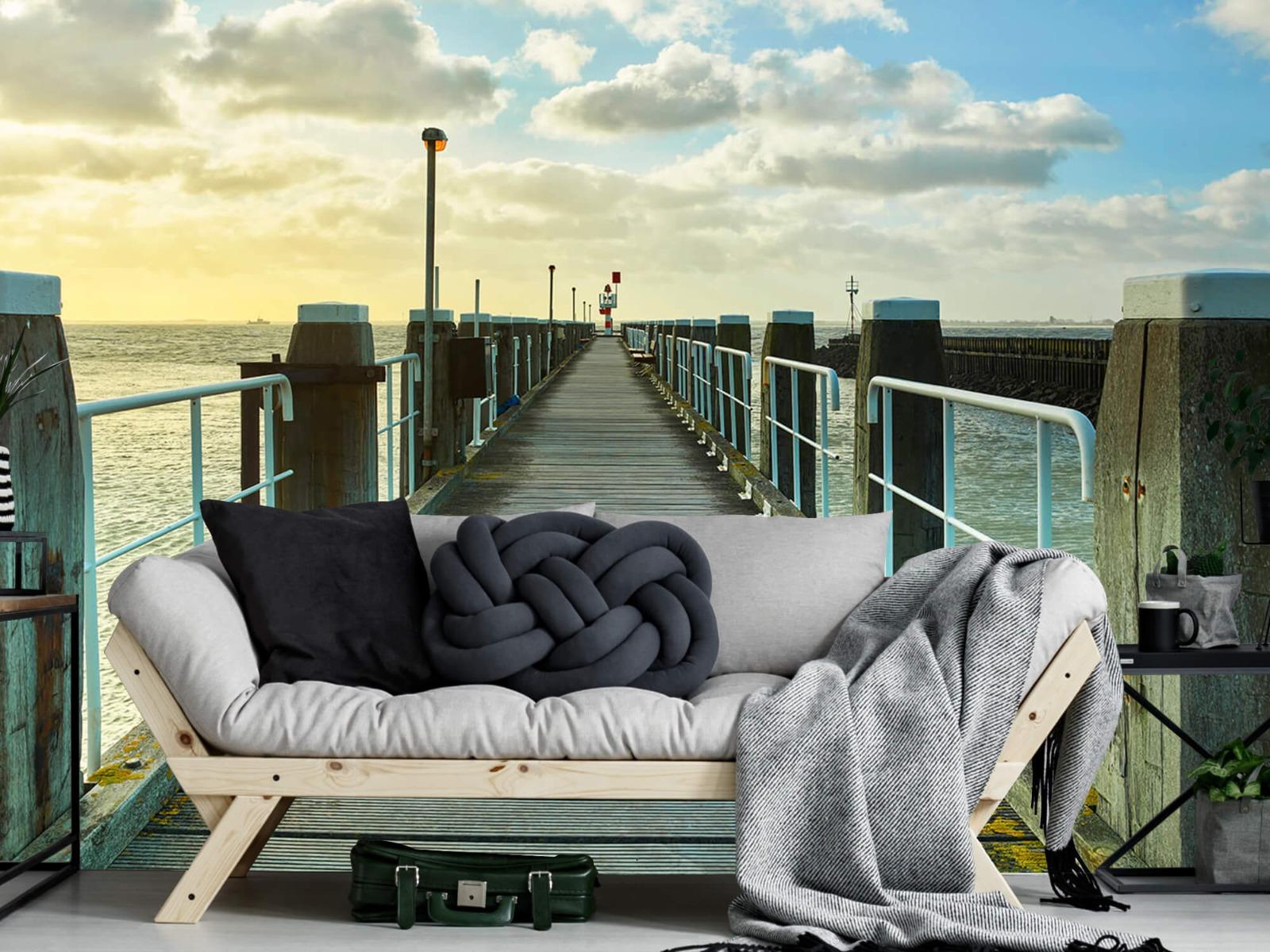 Zeeën en Oceanen - Steiger aan de kust - Woonkamer 6