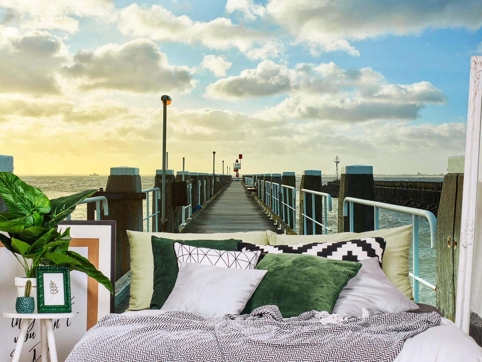 Zeeën en Oceanen - Steiger aan de kust - Woonkamer 12