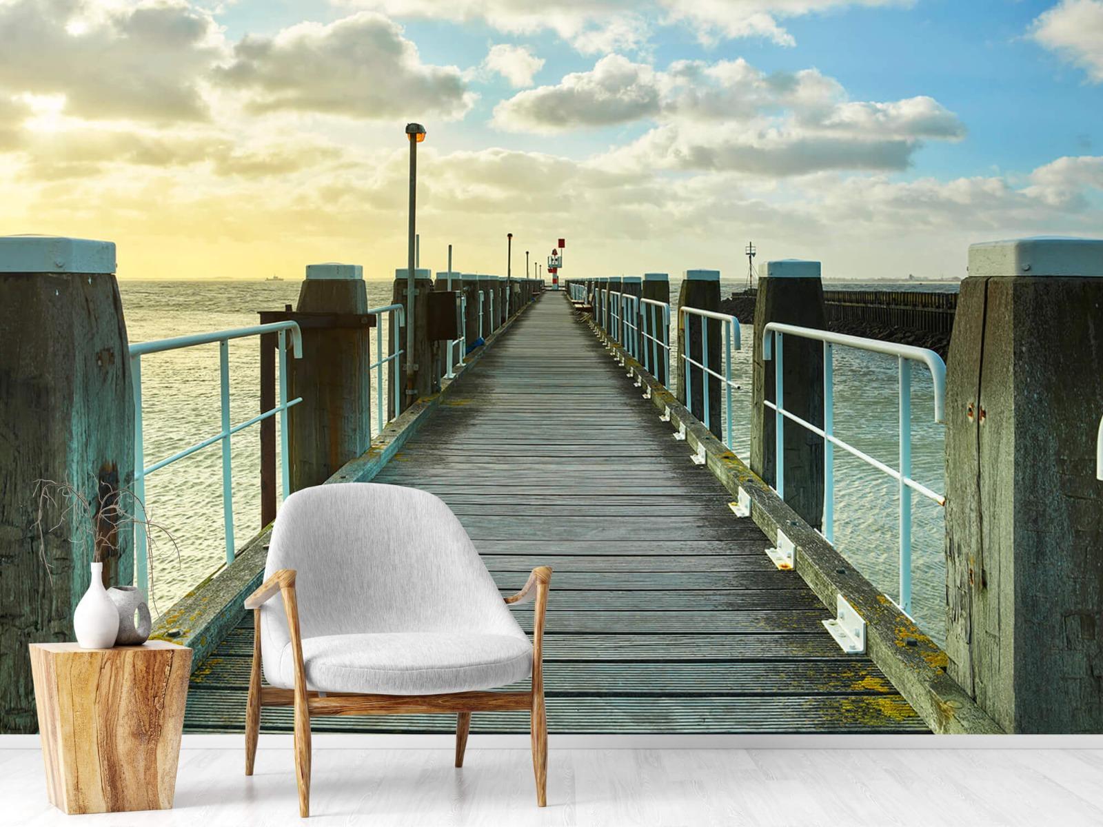 Zeeën en Oceanen - Steiger aan de kust - Woonkamer 18