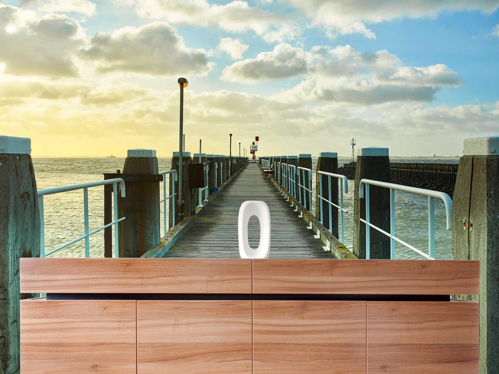 Zeeën en Oceanen - Steiger aan de kust - Woonkamer 20