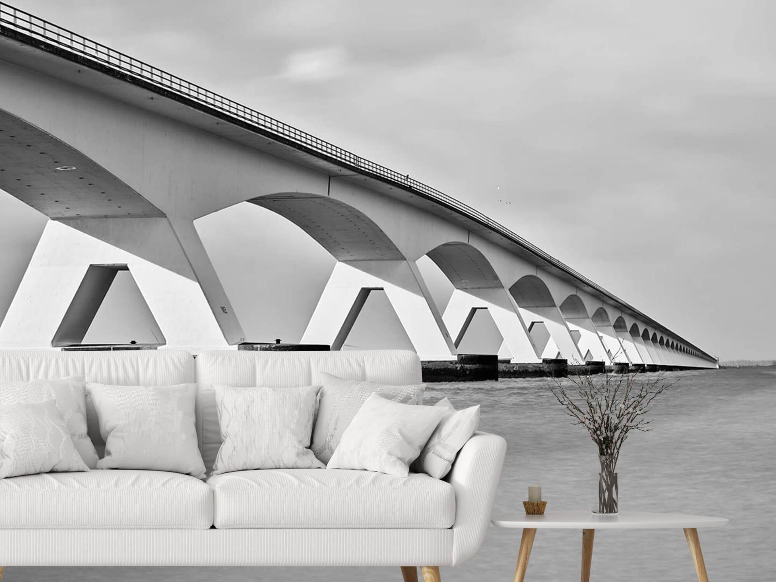 Zwart Wit behang - Lange brug - Kantoor 3