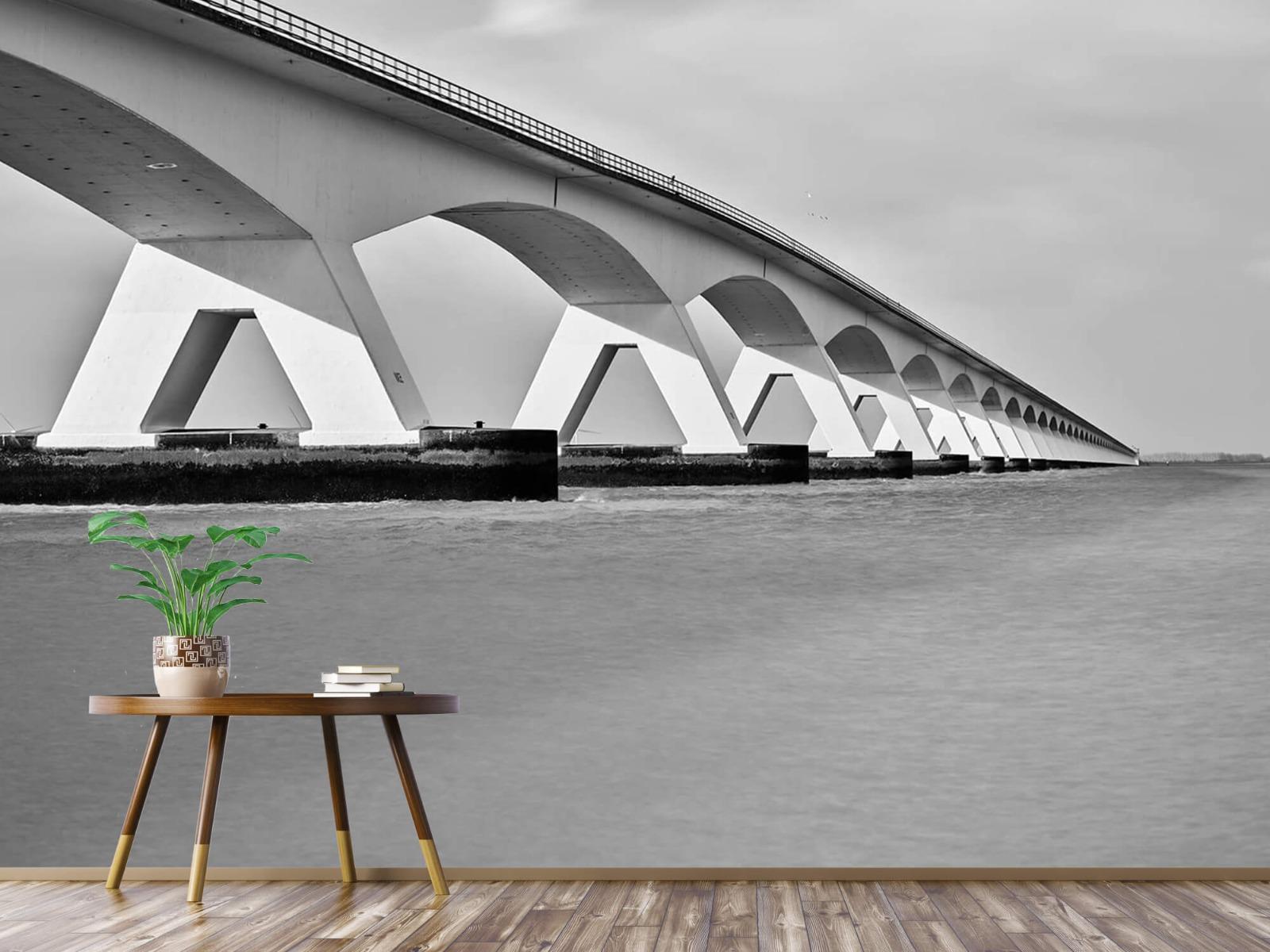 Zwart Wit behang - Lange brug - Kantoor 4