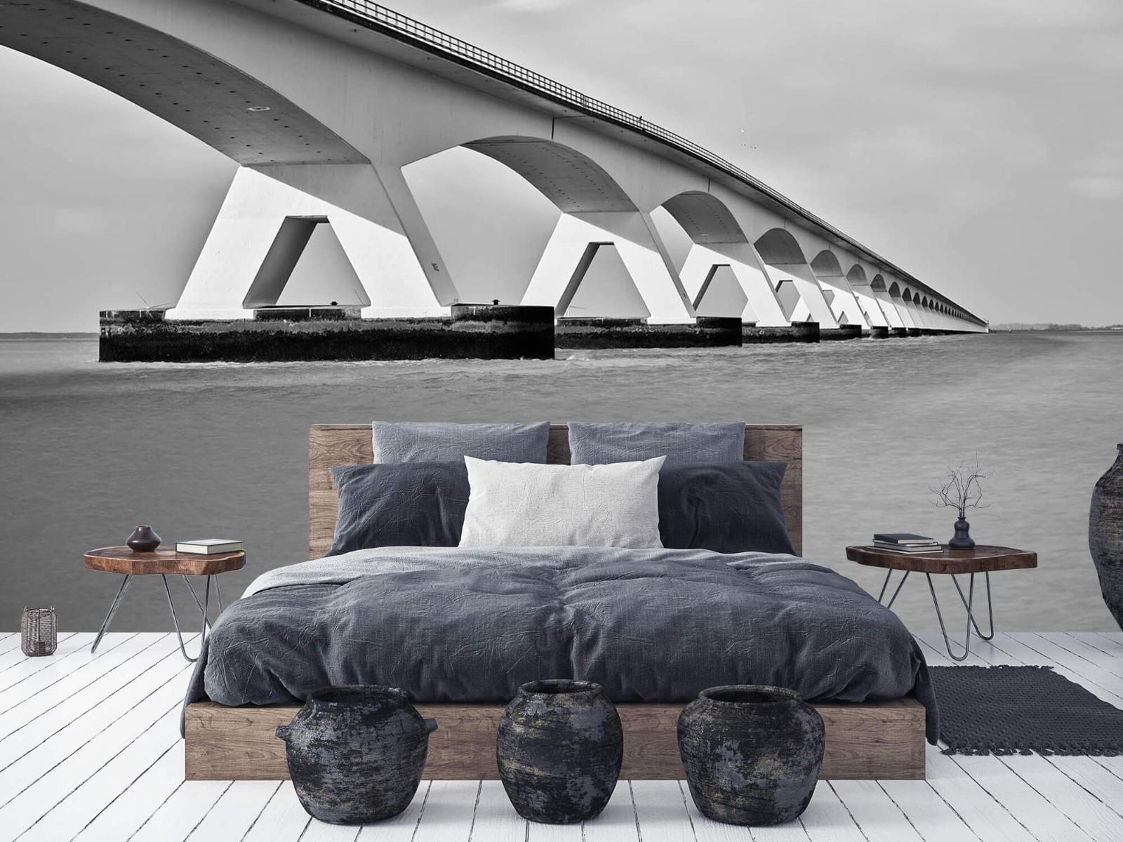 Zwart Wit behang - Lange brug - Kantoor 6