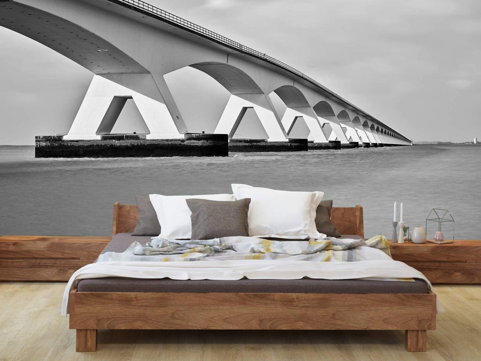 Zwart Wit behang - Lange brug - Kantoor 8
