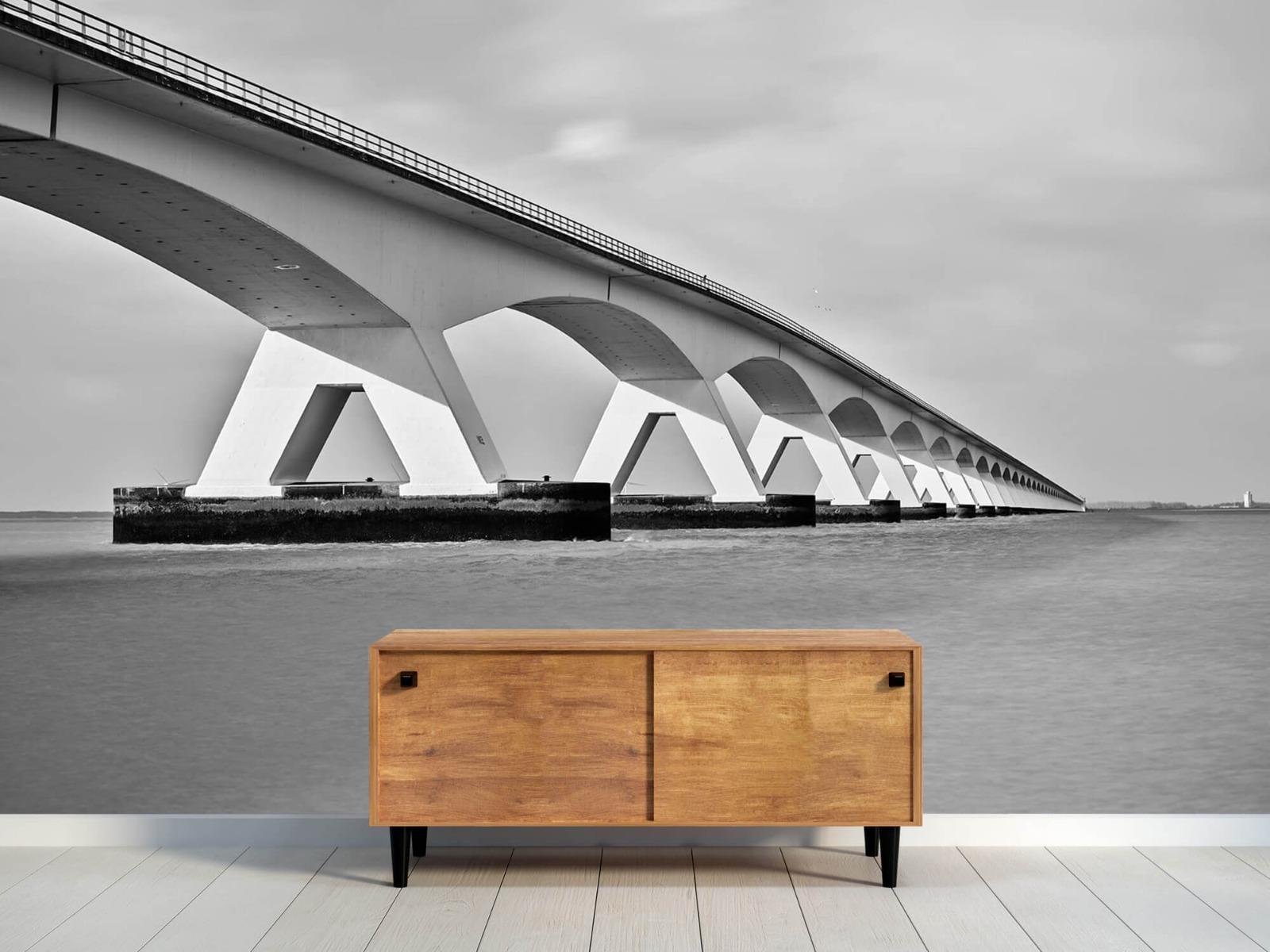 Zwart Wit behang - Lange brug - Kantoor 10