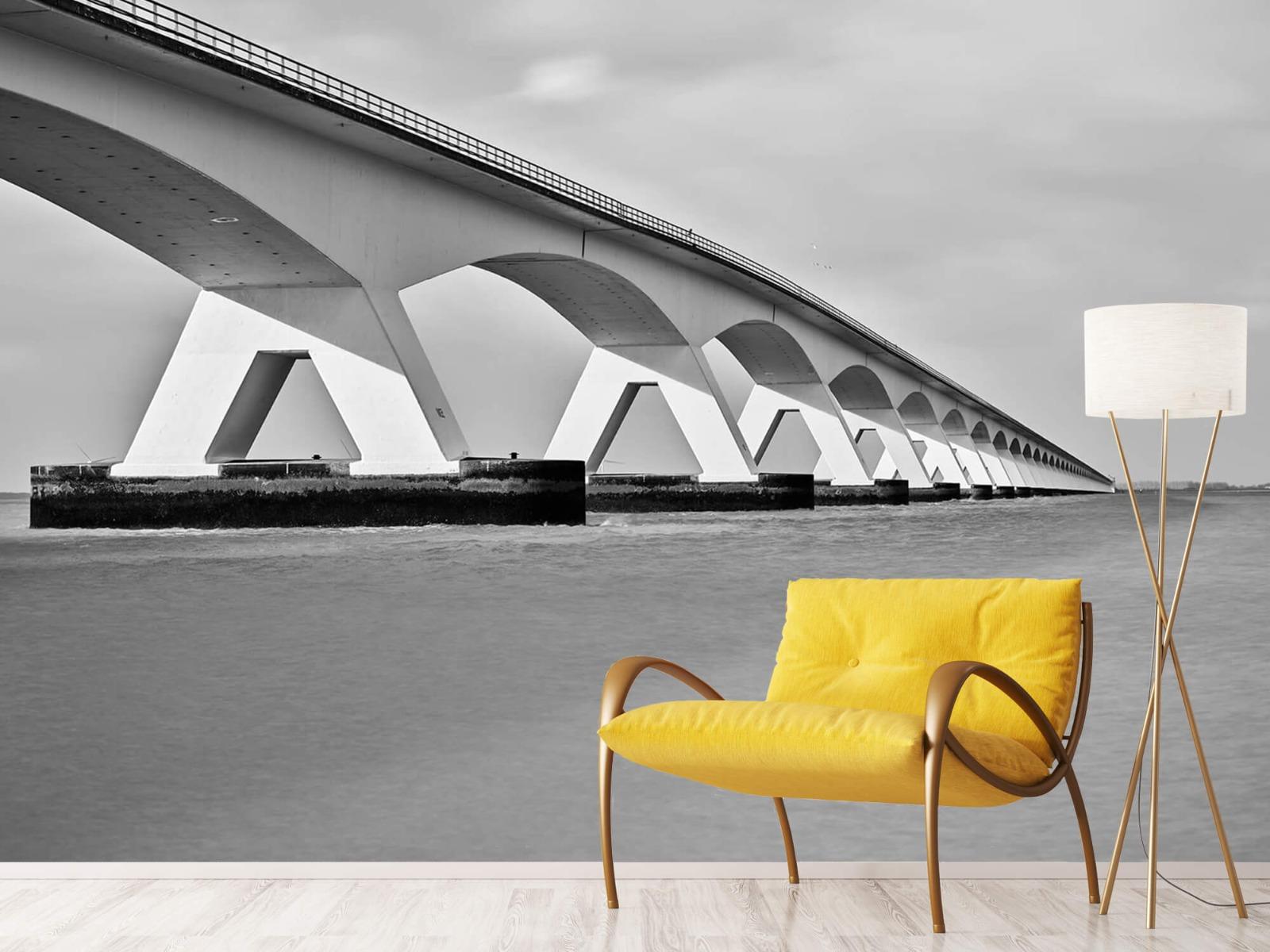 Zwart Wit behang - Lange brug - Kantoor 11
