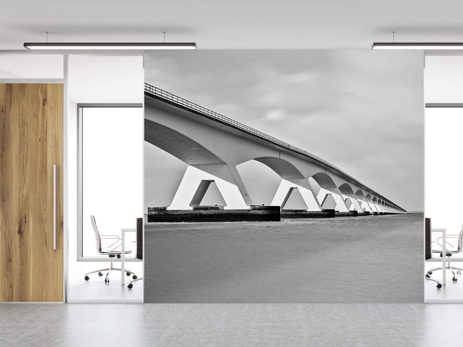 Zwart Wit behang - Lange brug - Kantoor 12