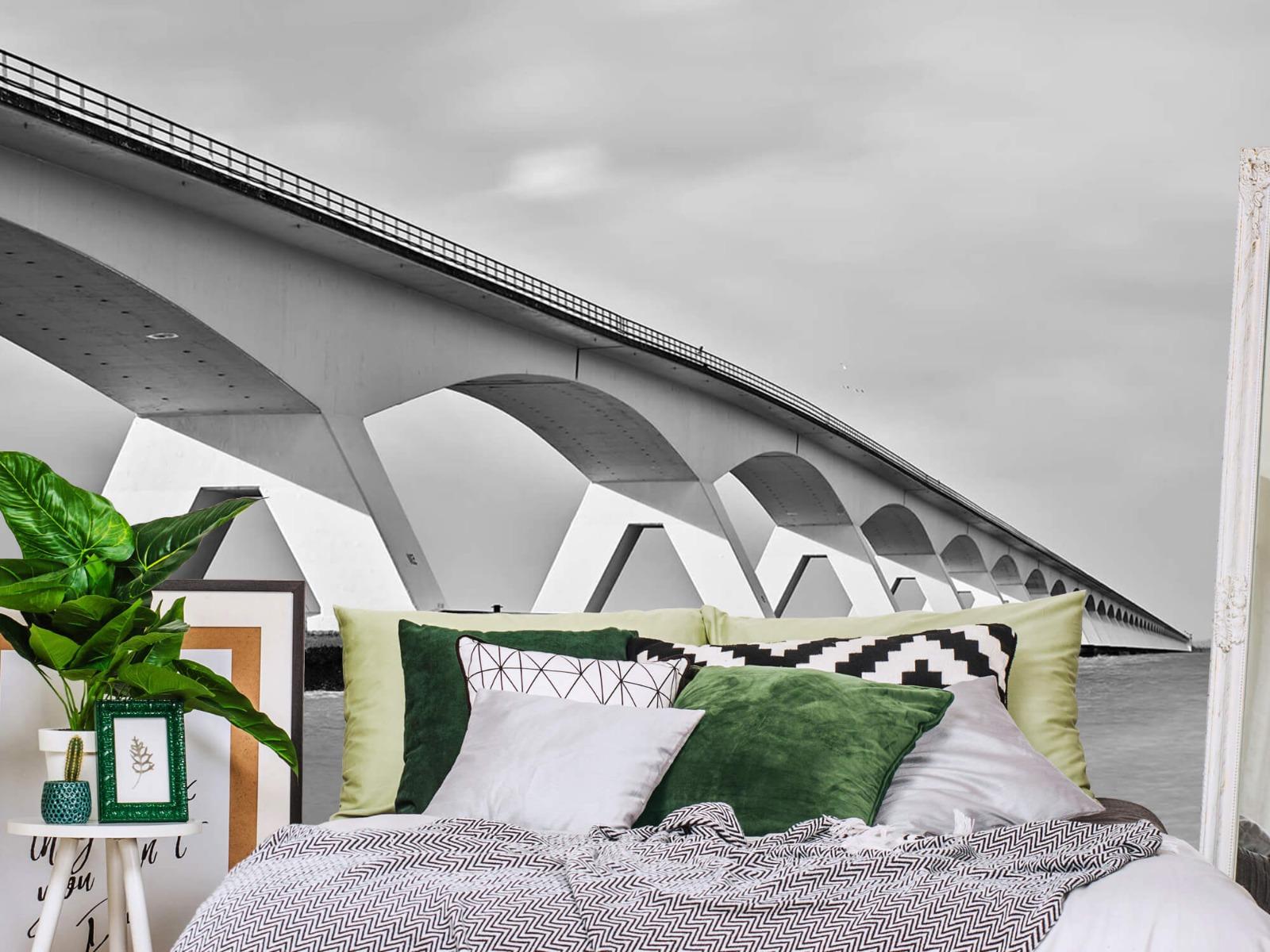 Zwart Wit behang - Lange brug - Kantoor 13