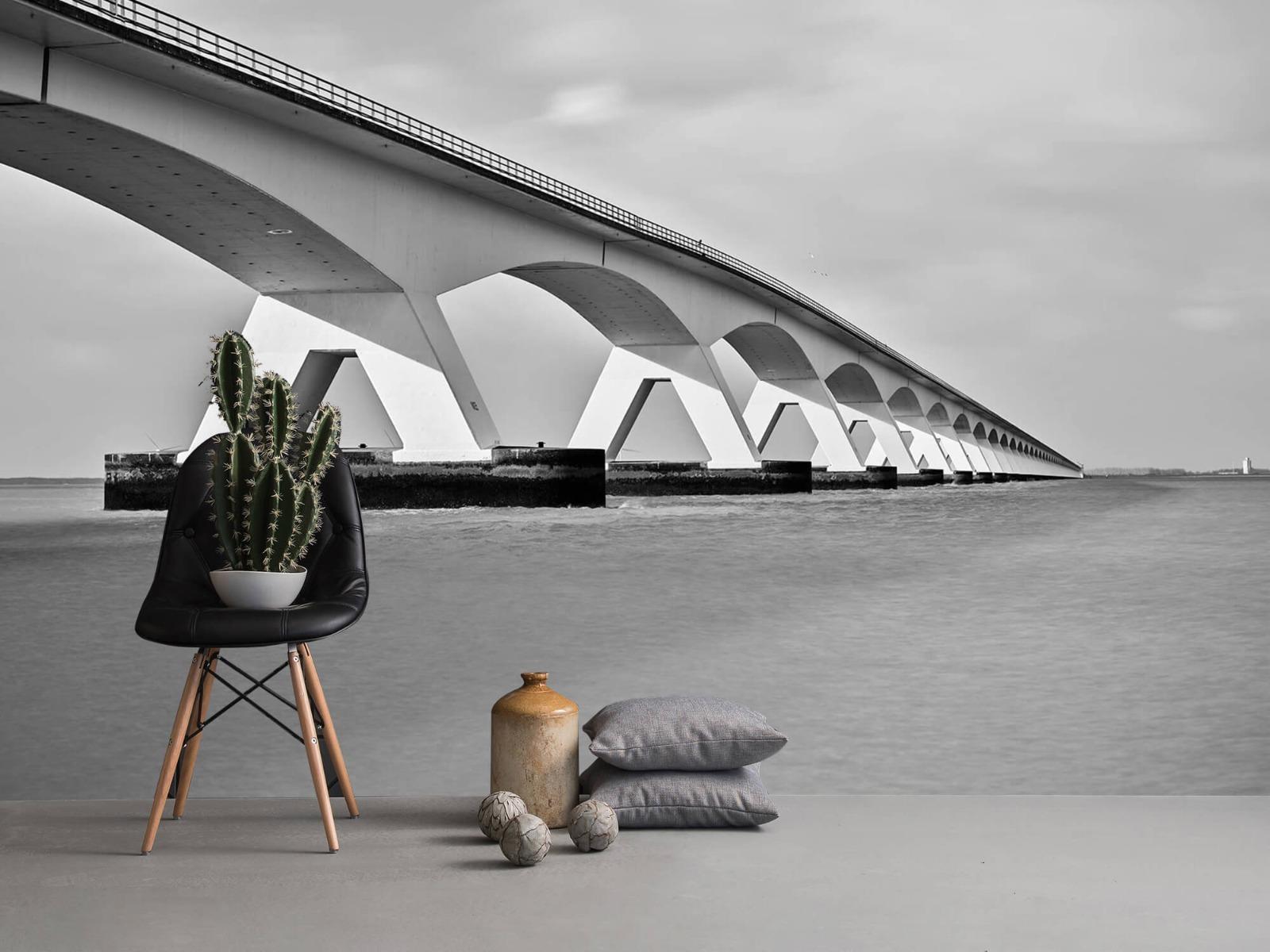 Zwart Wit behang - Lange brug - Kantoor 14