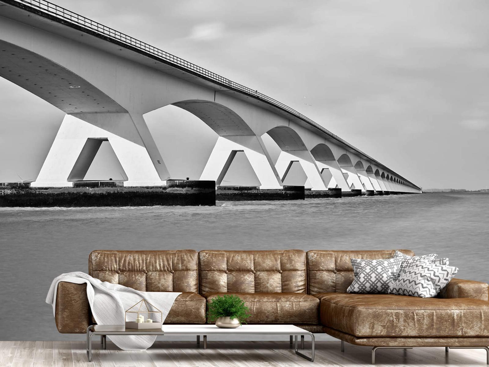 Zwart Wit behang - Lange brug - Kantoor 15