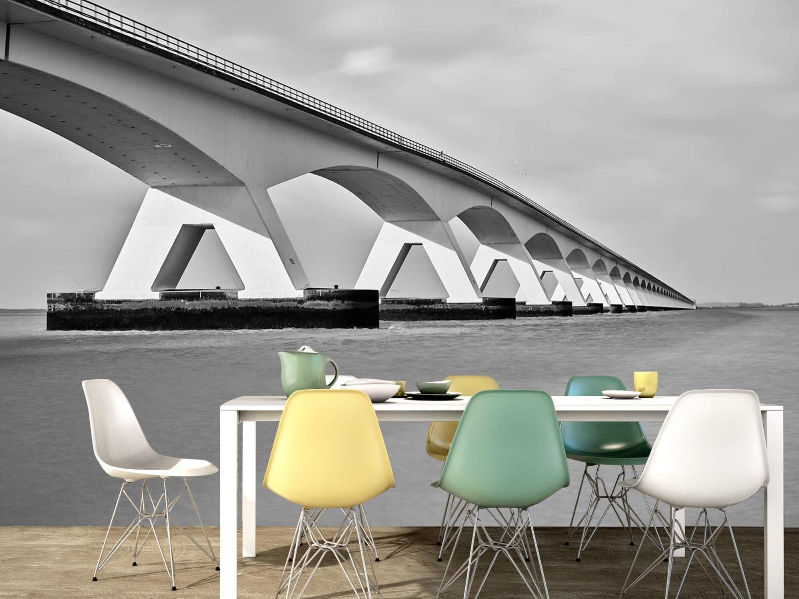 Zwart Wit behang - Lange brug - Kantoor 16