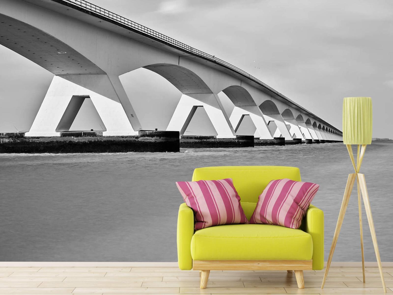 Zwart Wit behang - Lange brug - Kantoor 18