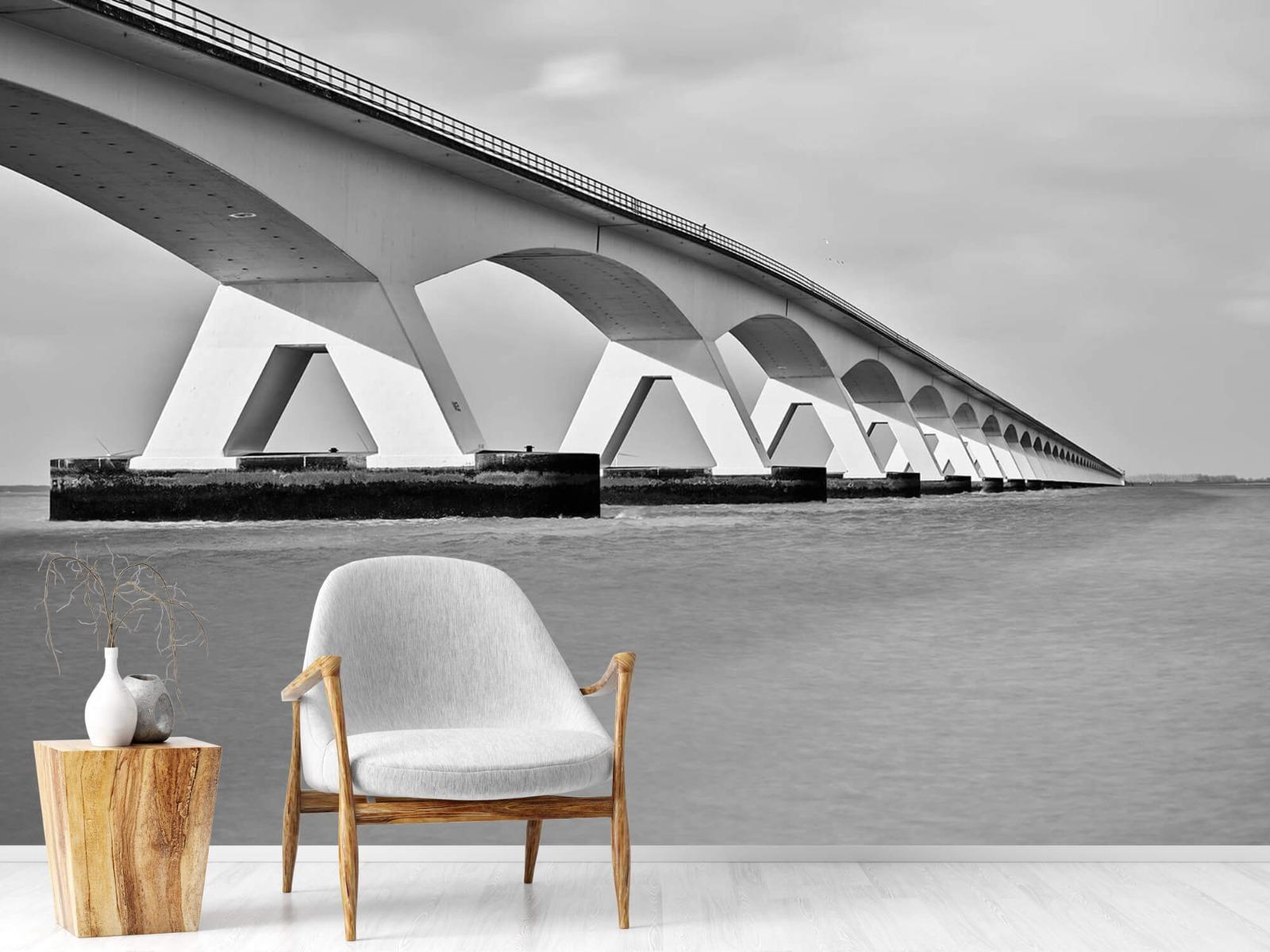 Zwart Wit behang - Lange brug - Kantoor 1