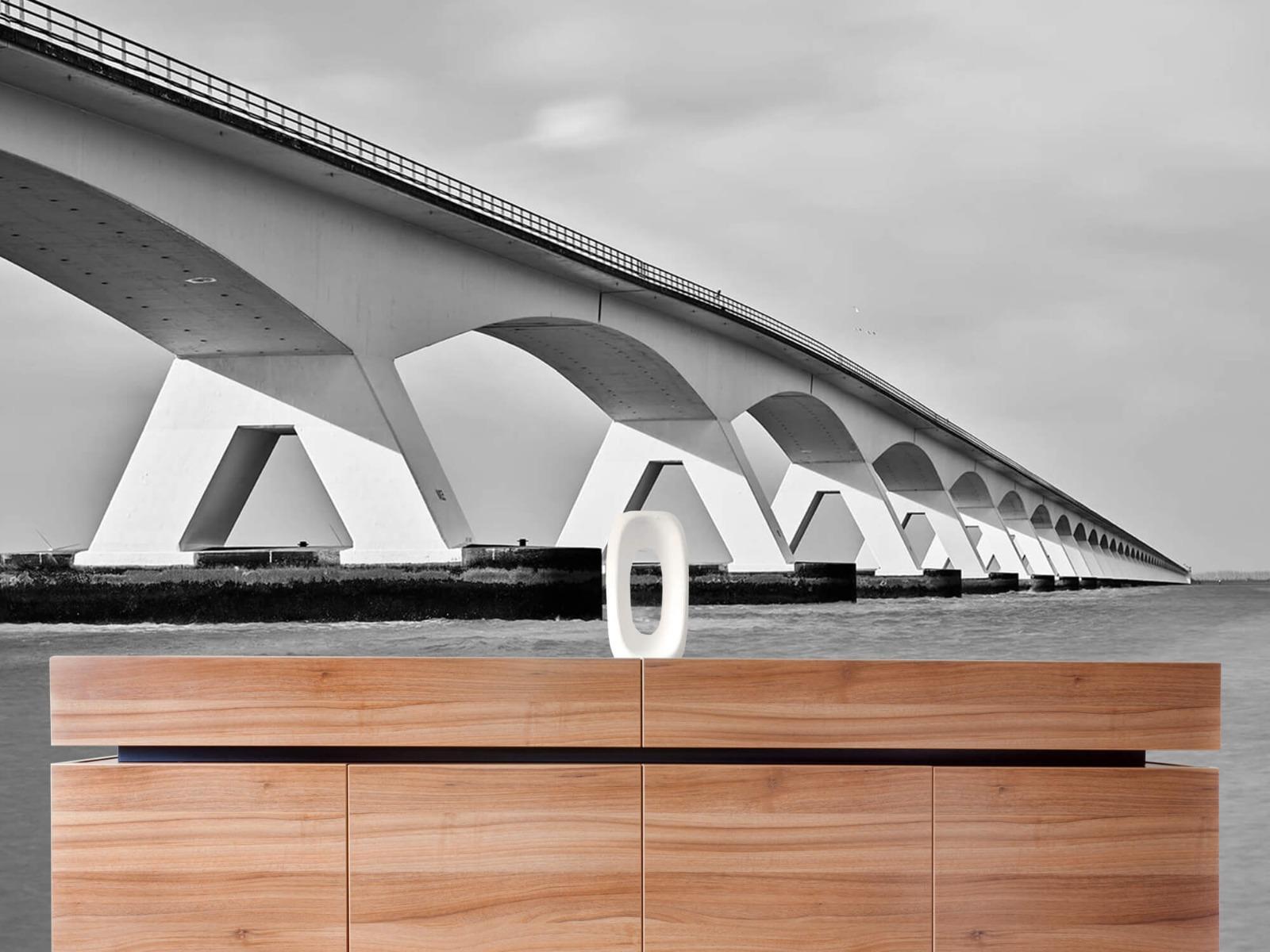 Zwart Wit behang - Lange brug - Kantoor 20