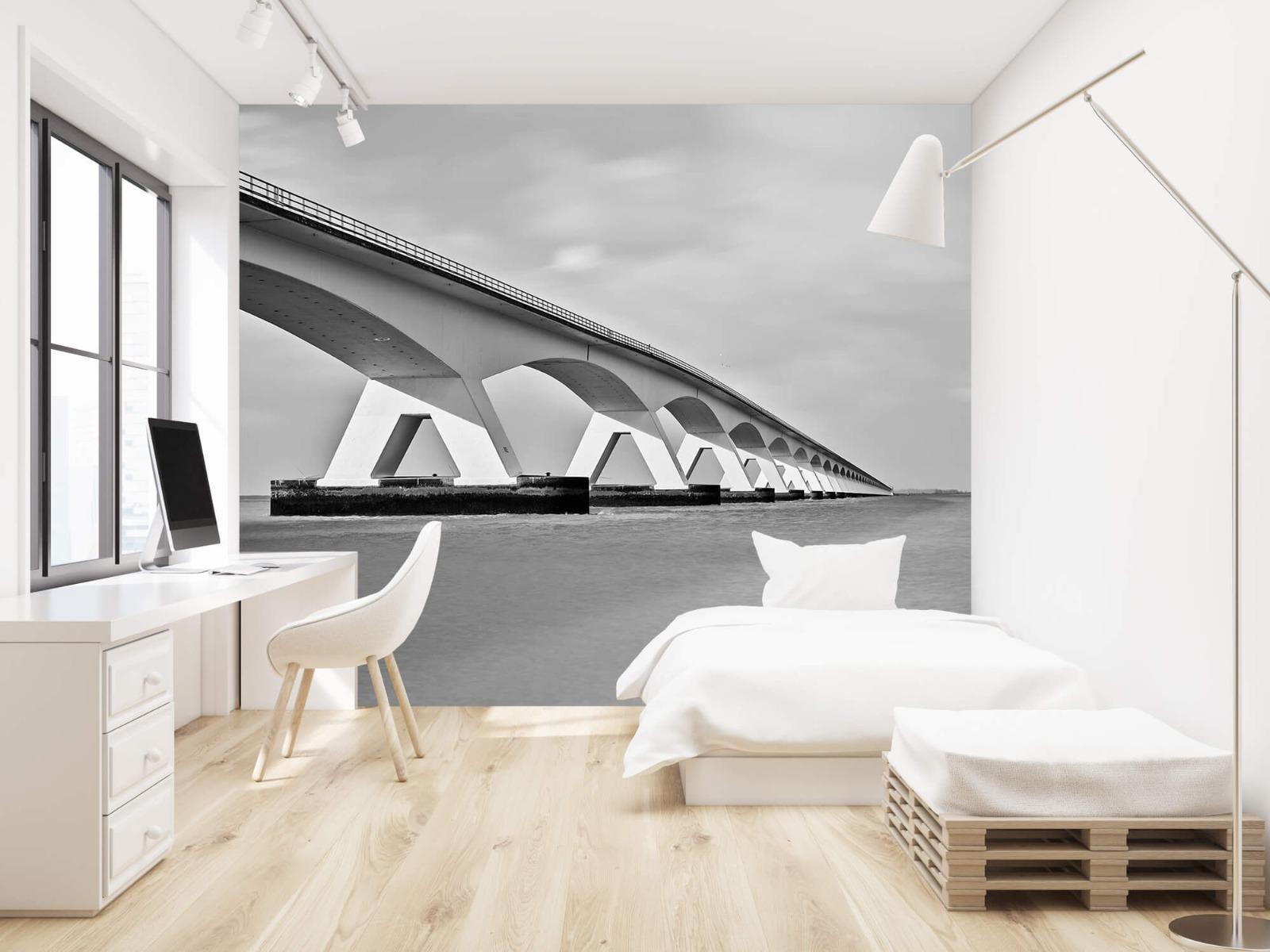 Zwart Wit behang - Lange brug - Kantoor 22