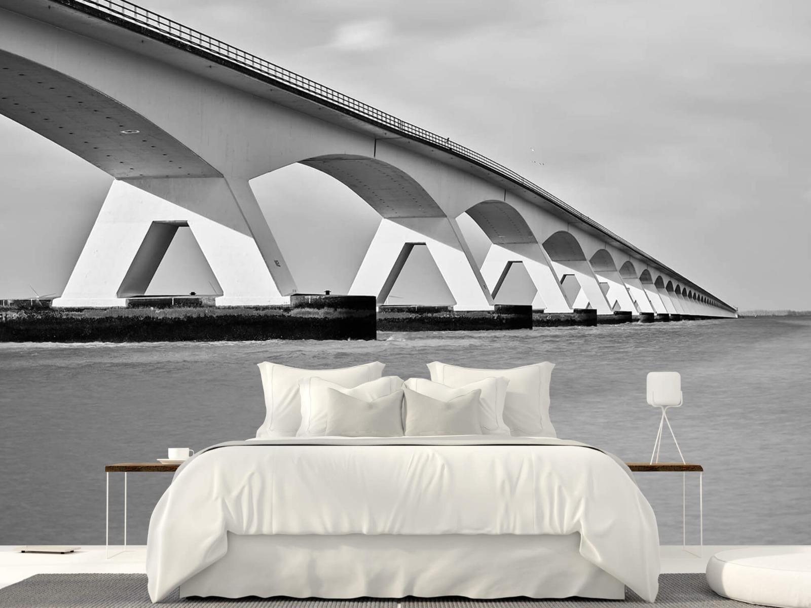 Zwart Wit behang - Lange brug - Kantoor 23