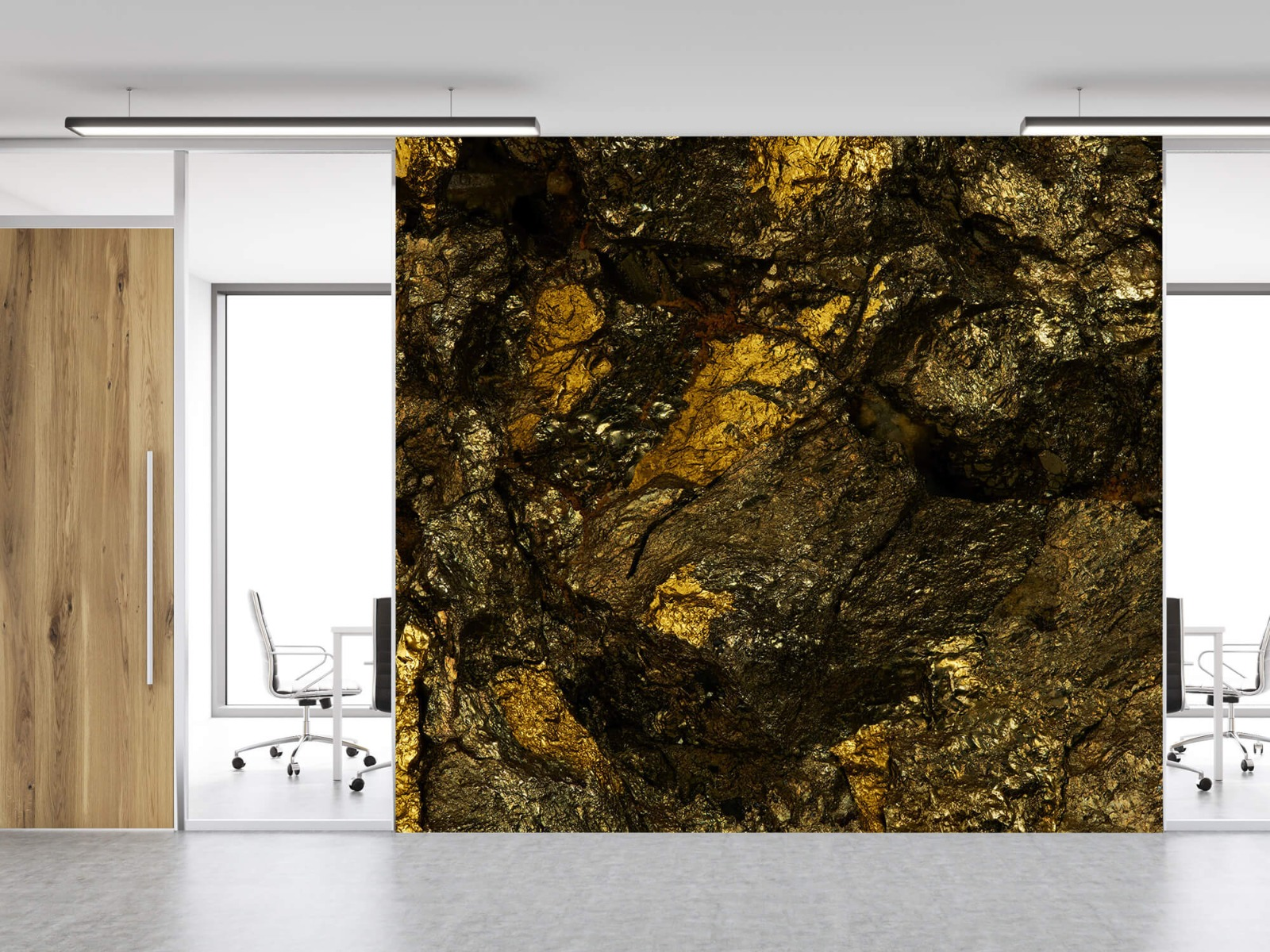 Steen behang - Steen met goud - Slaapkamer 12