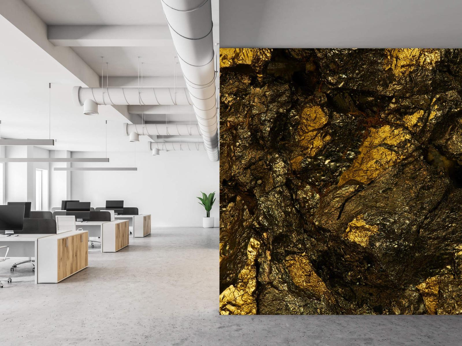 Steen behang - Steen met goud - Slaapkamer 22