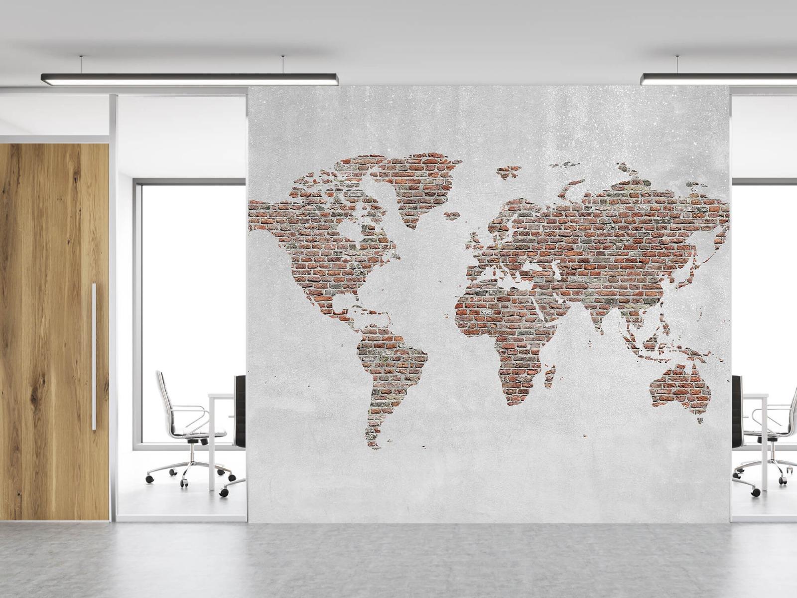 Steen behang - Wereldkaart stenen - Slaapkamer 11