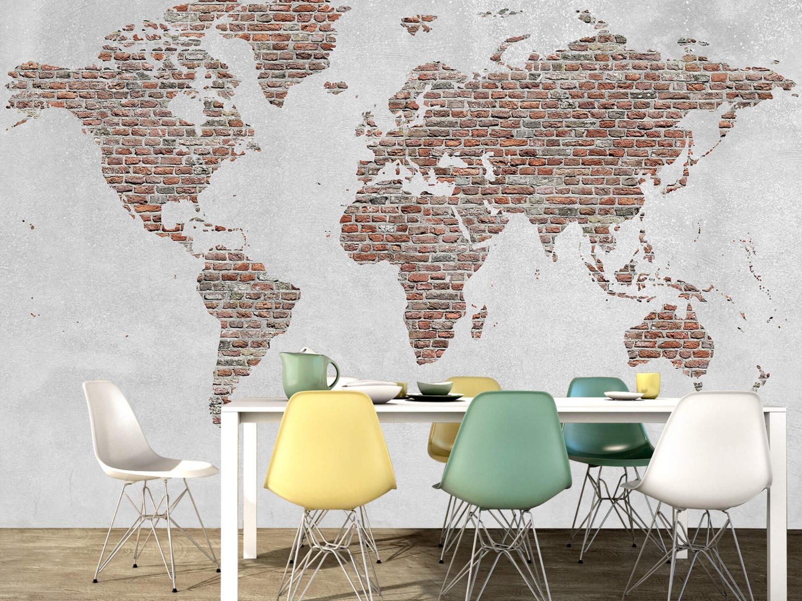 Steen behang - Wereldkaart stenen - Slaapkamer 15