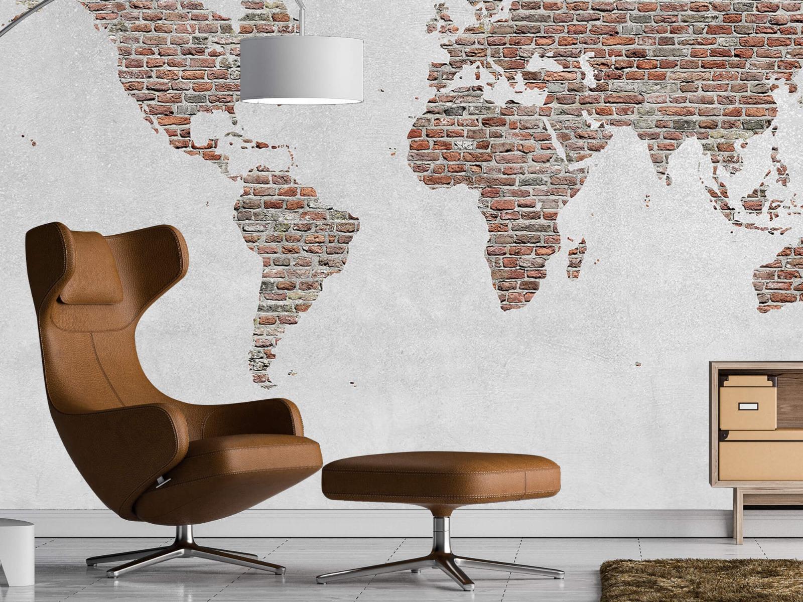 Steen behang - Wereldkaart stenen - Slaapkamer 19