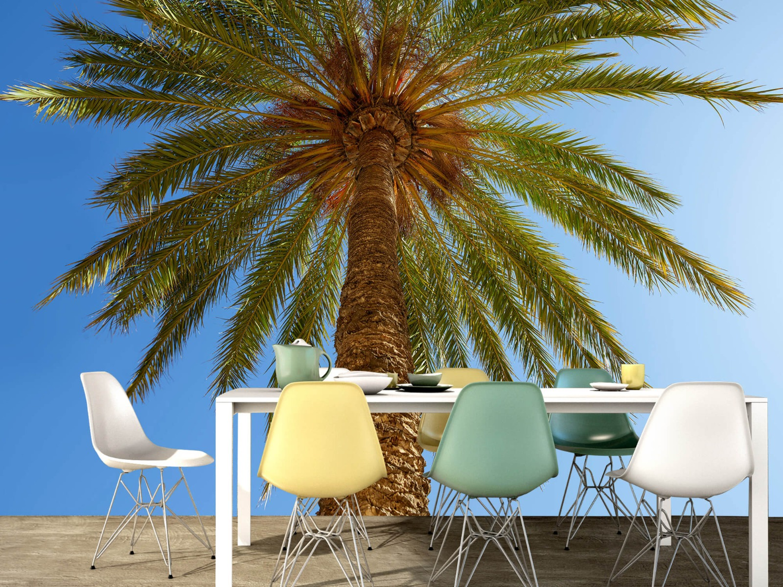 Palmbomen - Gedetailleerde Palmboom - Slaapkamer 15