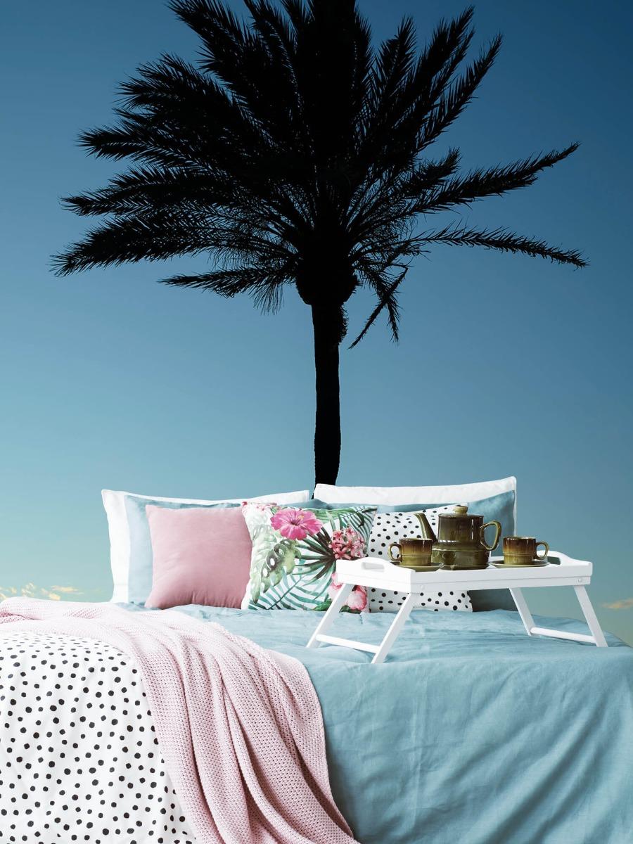 Palmbomen - Palmboom bij zonsondergang - Woonkamer 6