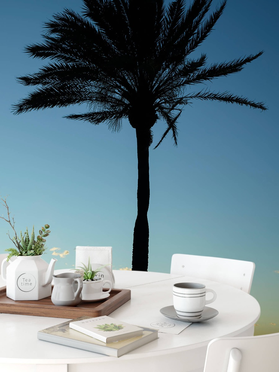 Palmbomen - Palmboom bij zonsondergang - Woonkamer 9