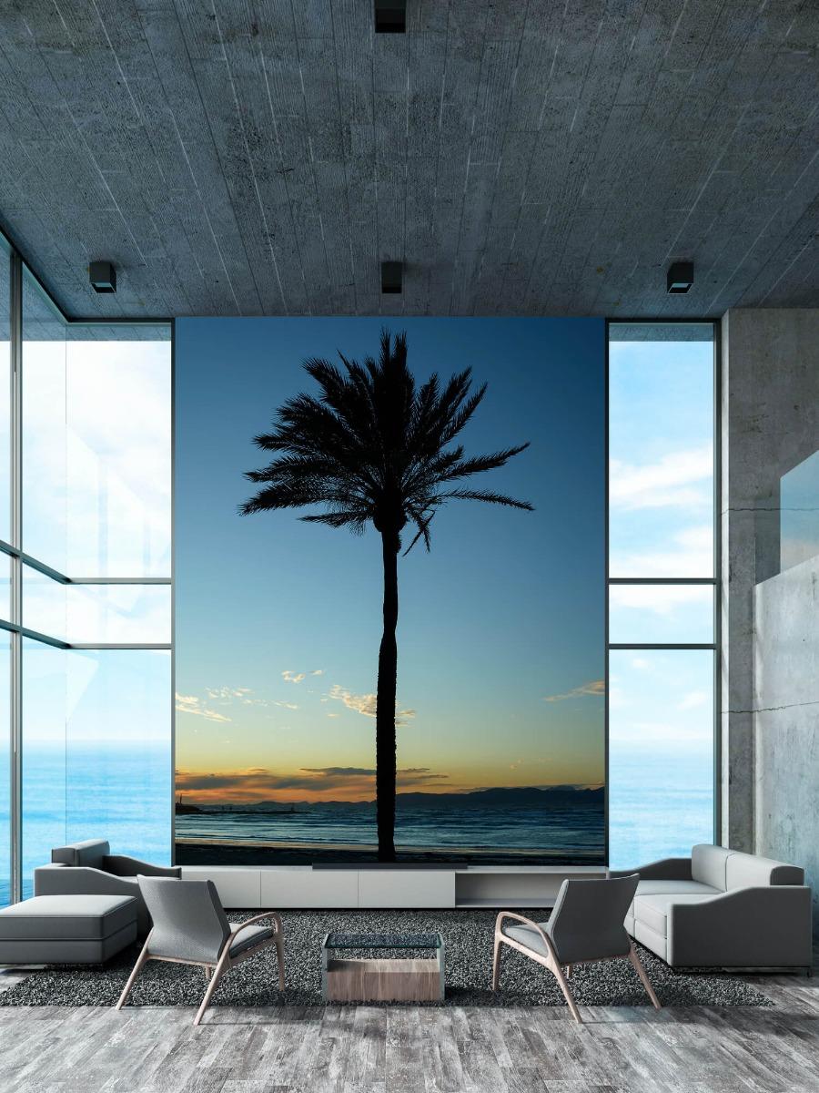 Palmbomen - Palmboom bij zonsondergang - Woonkamer 11