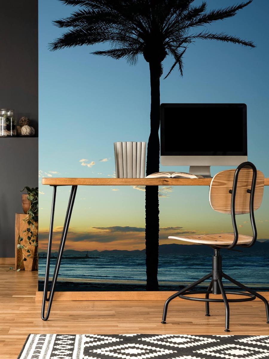Palmbomen - Palmboom bij zonsondergang - Woonkamer 12