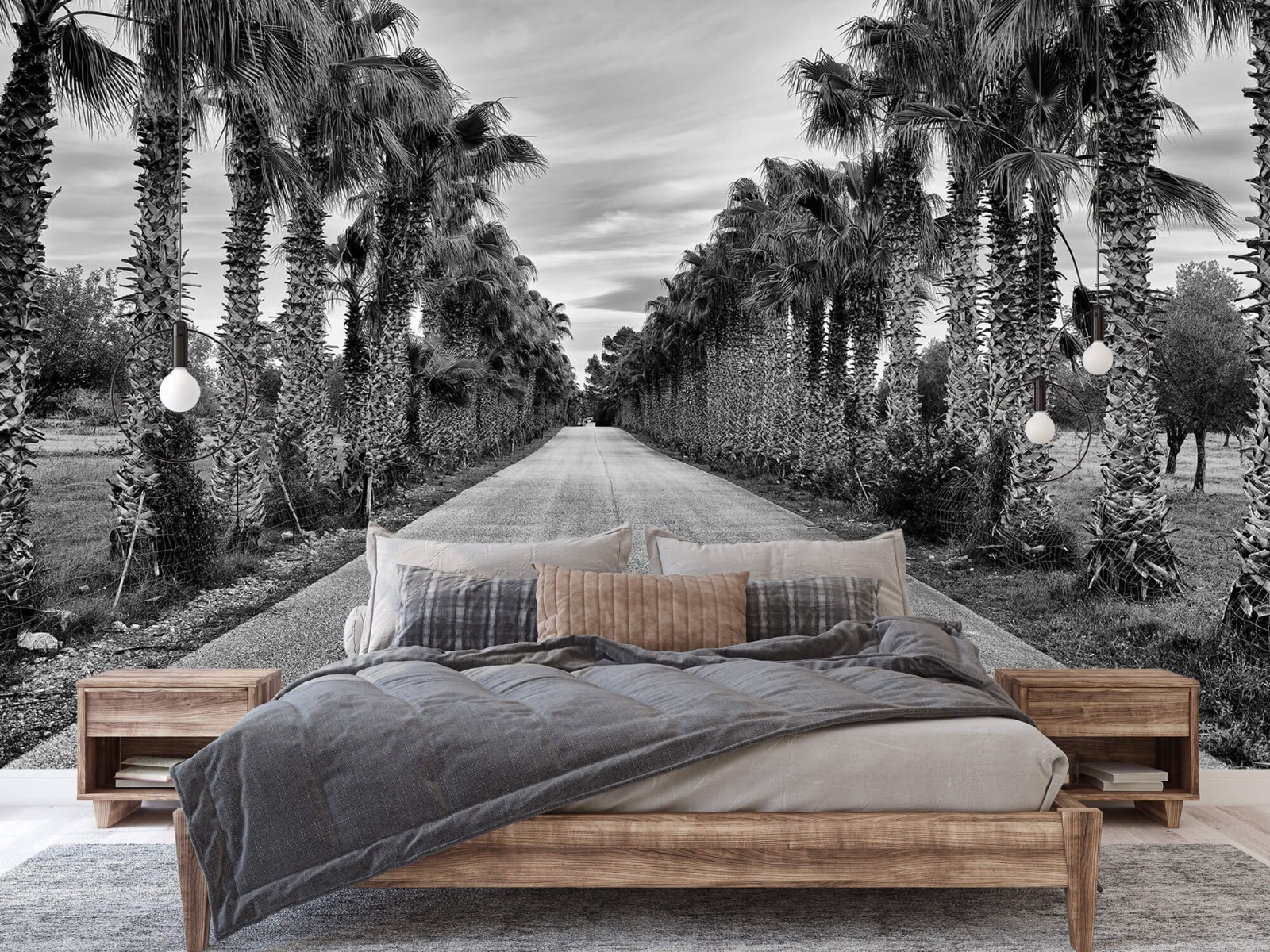 Palmbomen - Straat met palmbomen - Woonkamer 2