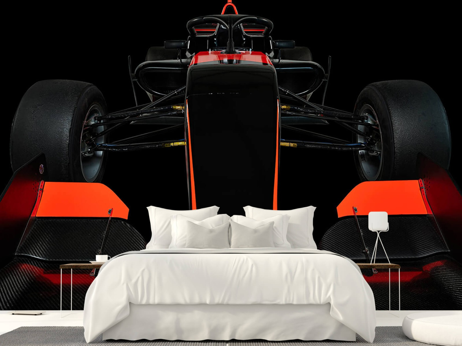 Sportauto's - Formule 3 - Lower front view - dark - Slaapkamer 23