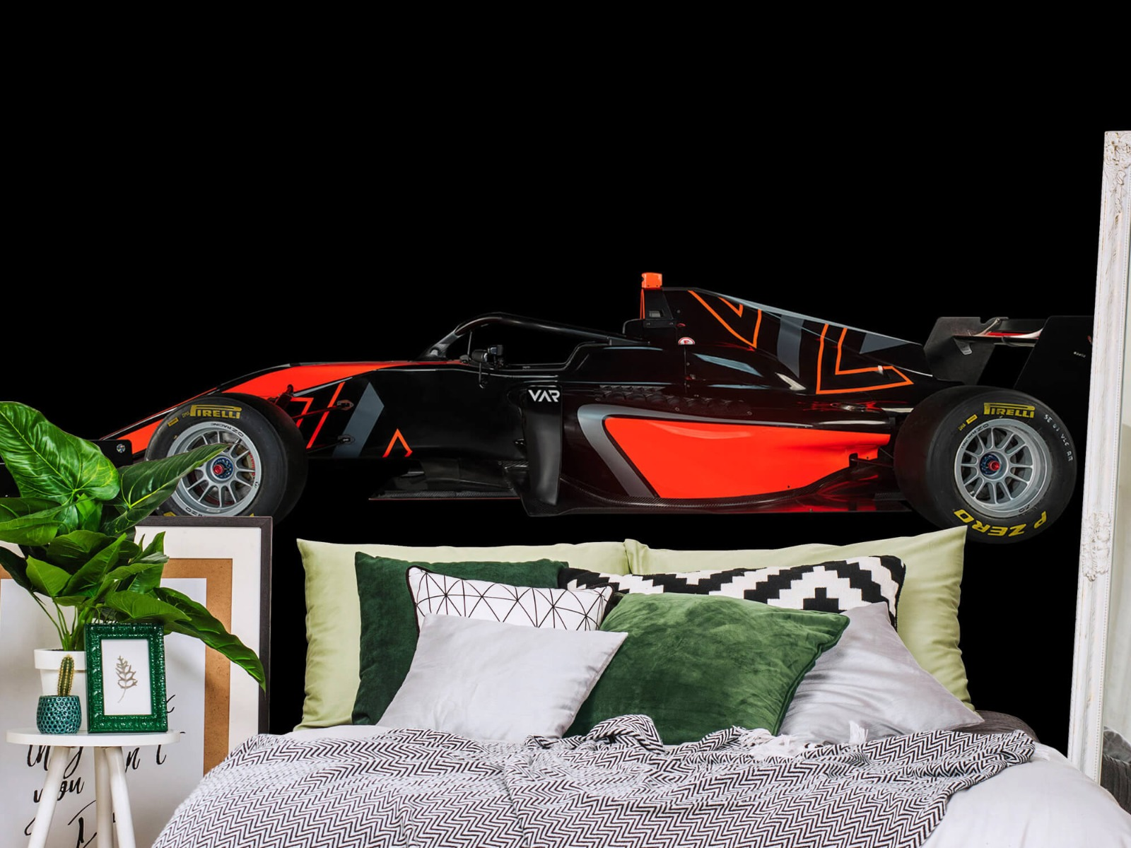 Sportauto's - Formule 3 - Lower side view - dark - Tienerkamer 13