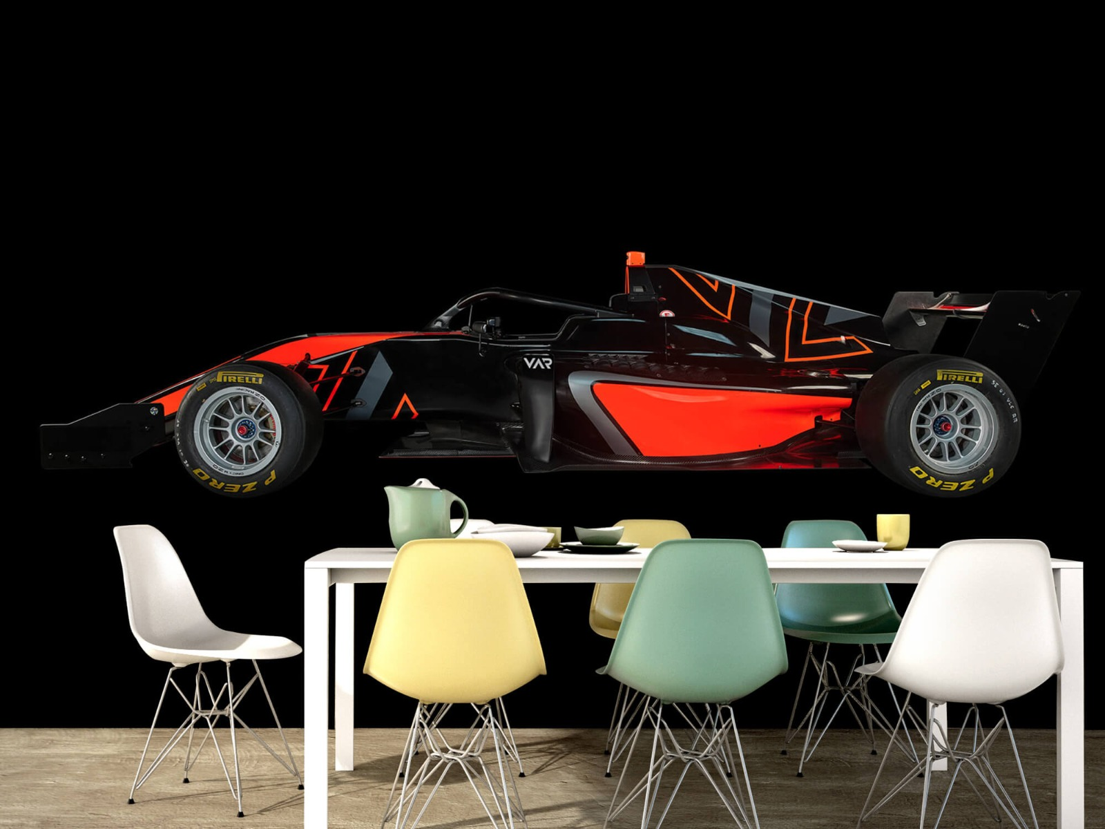 Sportauto's - Formule 3 - Lower side view - dark - Tienerkamer 16