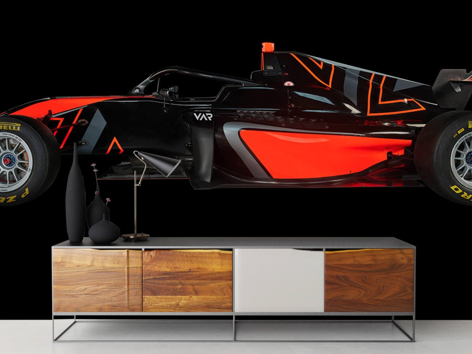 Sportauto's - Formule 3 - Lower side view - dark - Tienerkamer 17