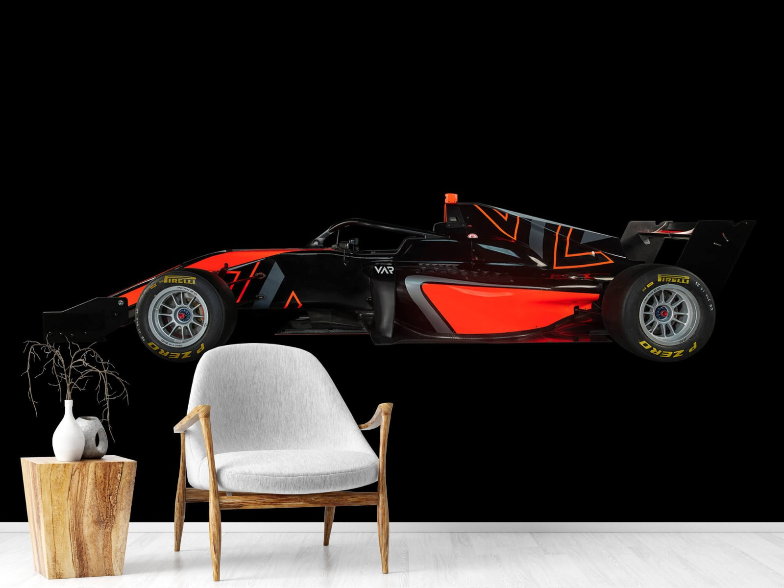Sportauto's - Formule 3 - Lower side view - dark - Tienerkamer 1